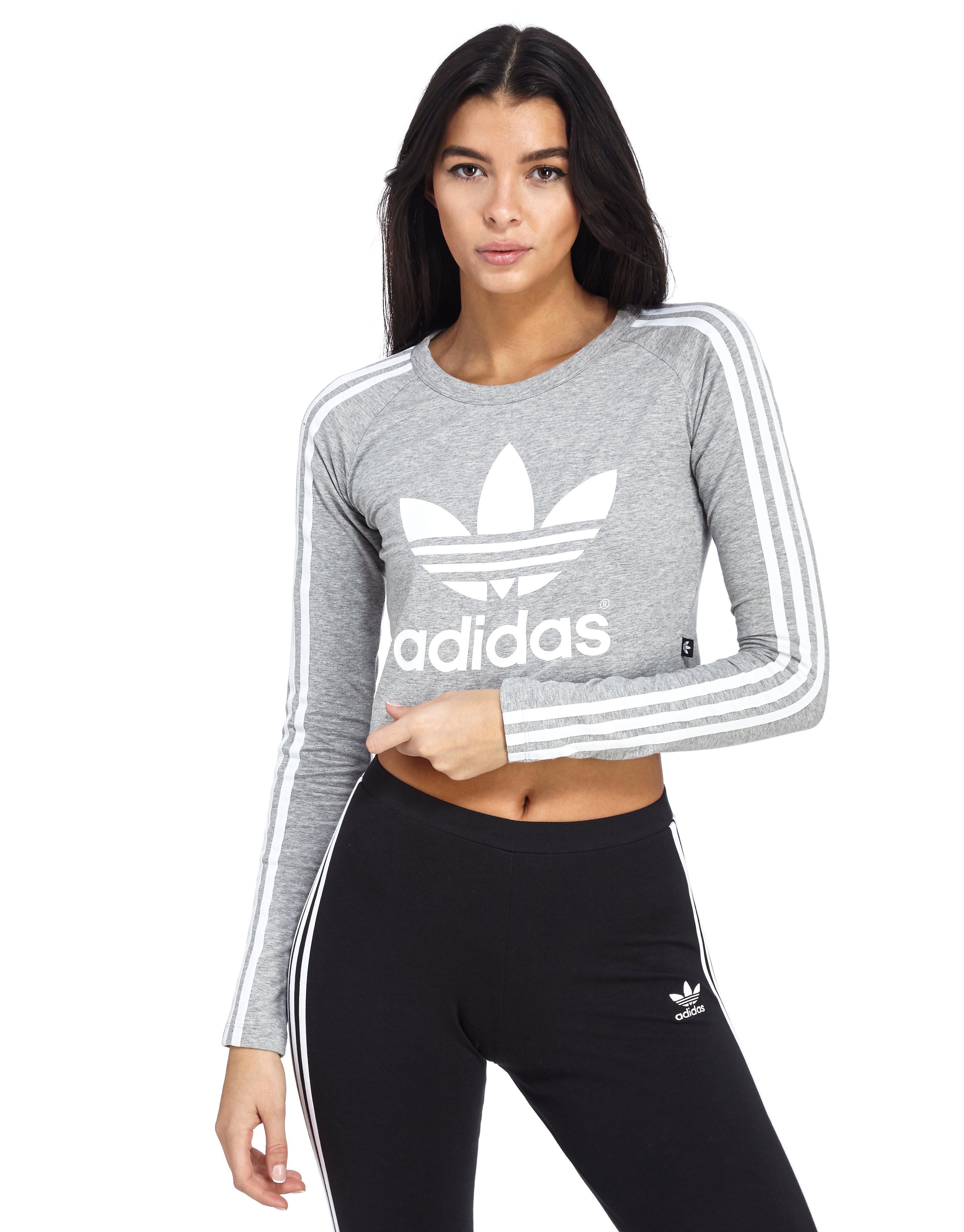adidas Originals Paris Long-Sleeved Crop T-Shirt