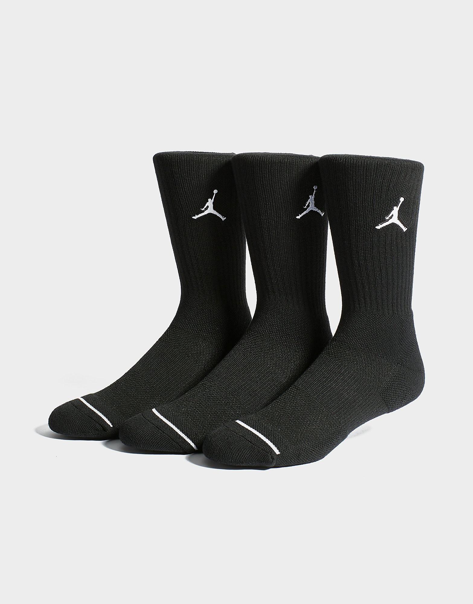 Jordan 3 Pack Crew Sokken - Zwart - Heren
