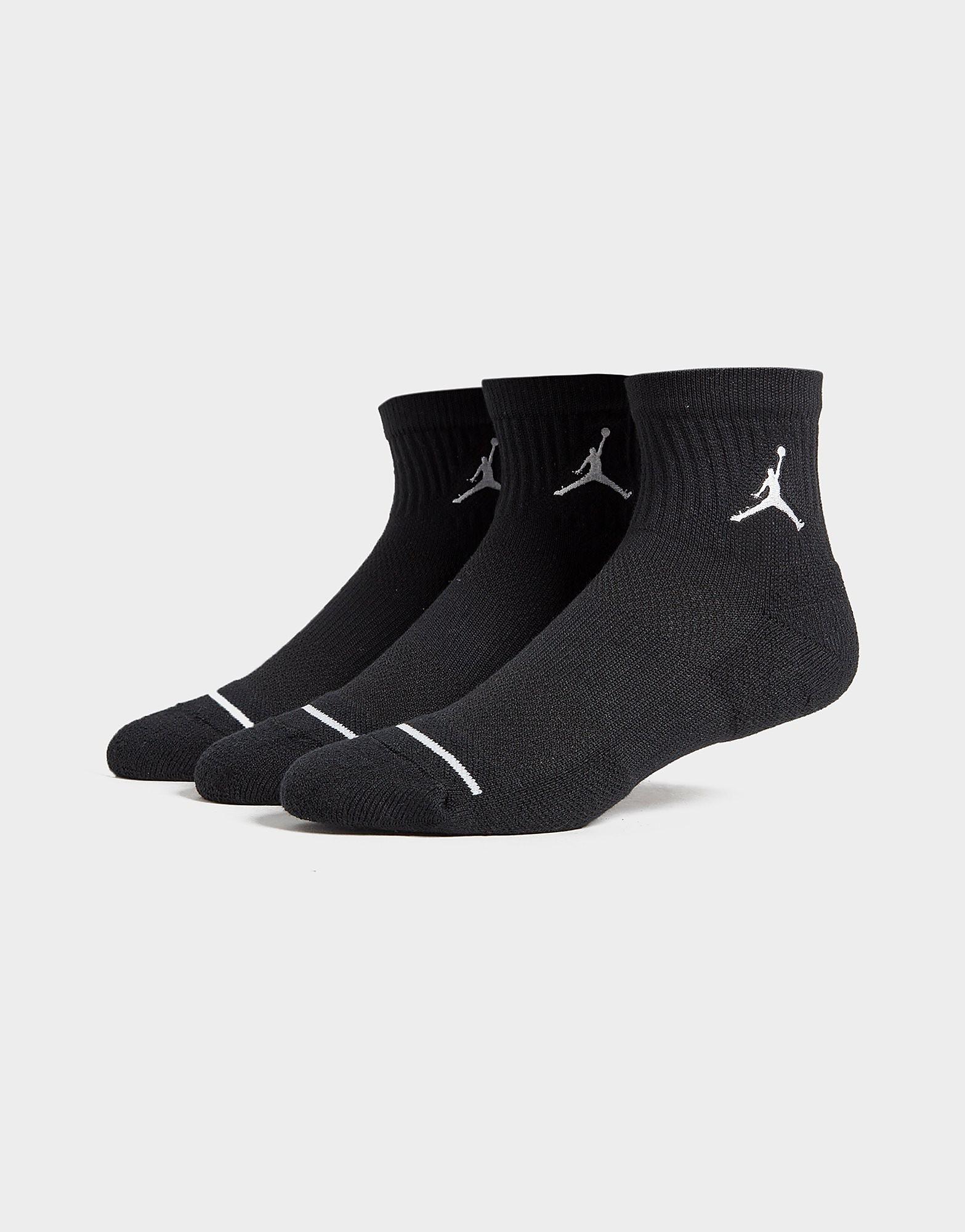 Jordan 3 Pack Drift Low Quarter Socks - Zwart - Heren