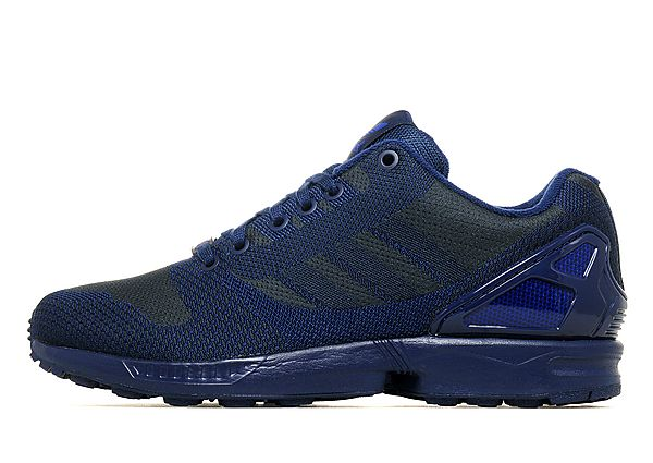 reputable site e7003 51b38 adidas ZX Flux Woven Mens Trainers Blue