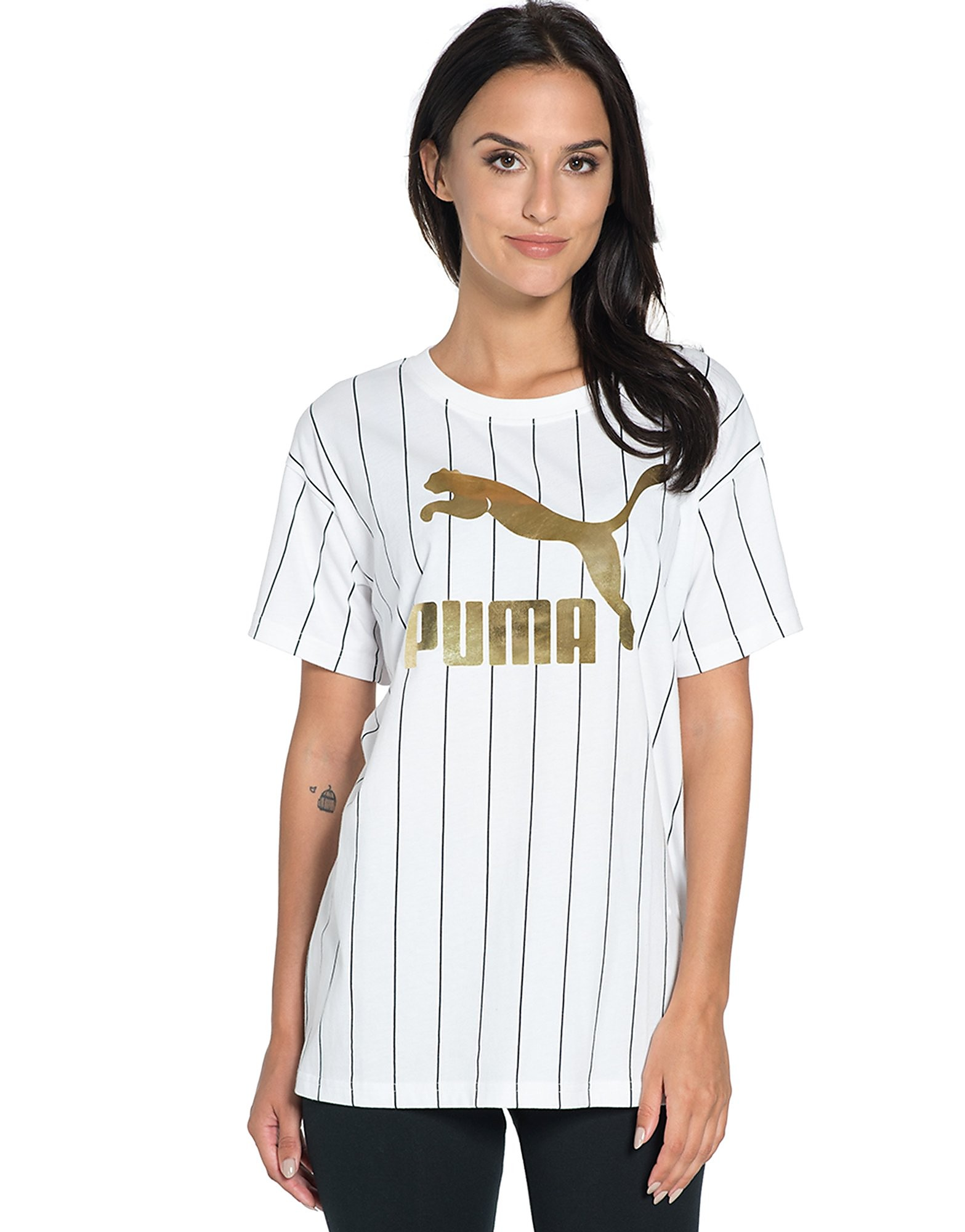 PUMA Gold Pack Stripe T-Shirt