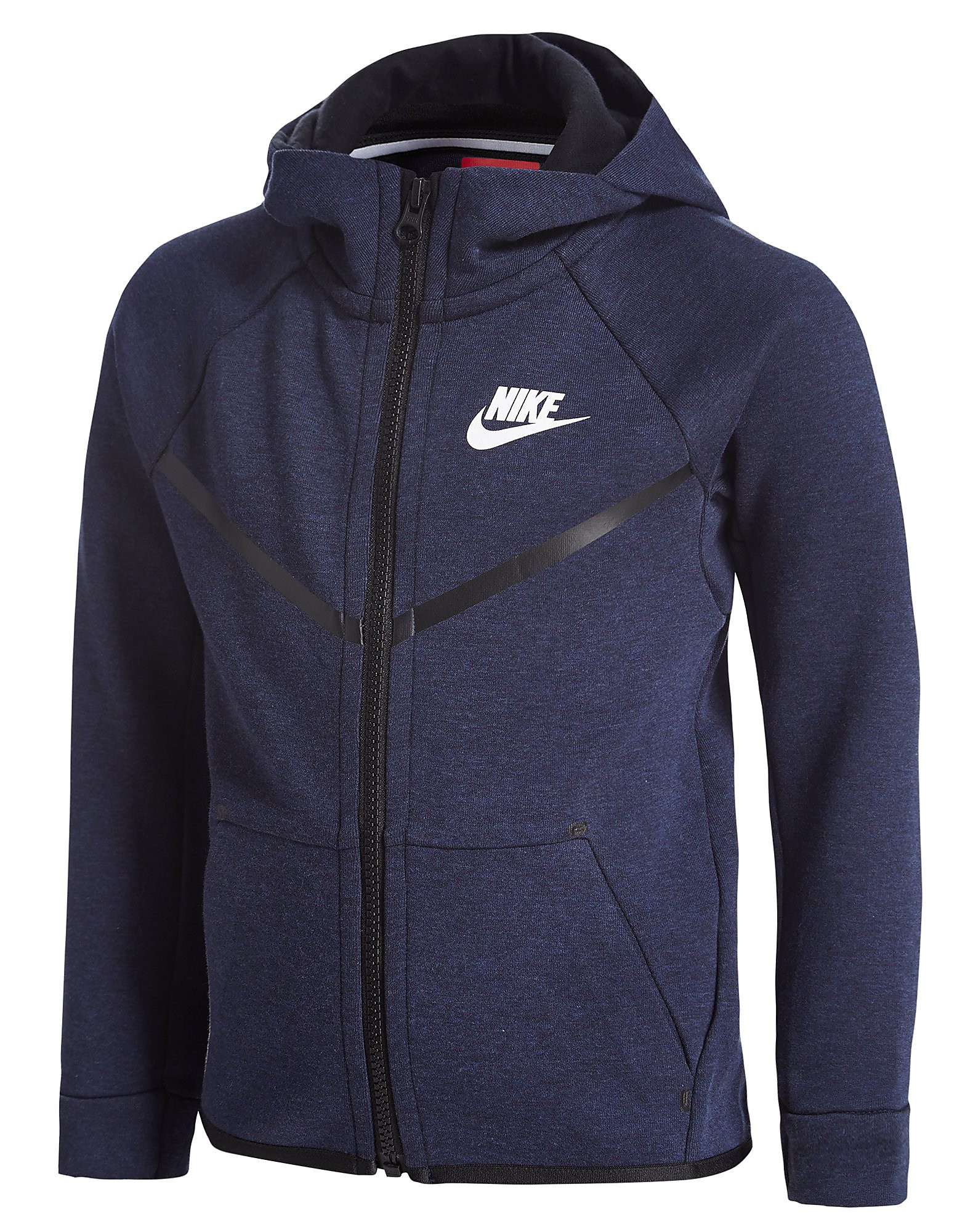 0a46eb20e8f Nike Tech Fleece Hoody Children - Navy Heather/Black - Kids - Sports ...