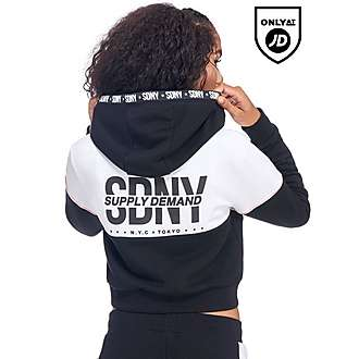 Supply & Demand Crop Chevron Hoody