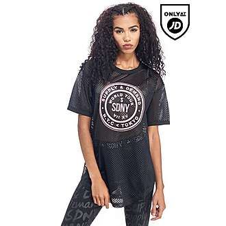 Supply & Demand Longline Mesh Boyfriend T-Shirt