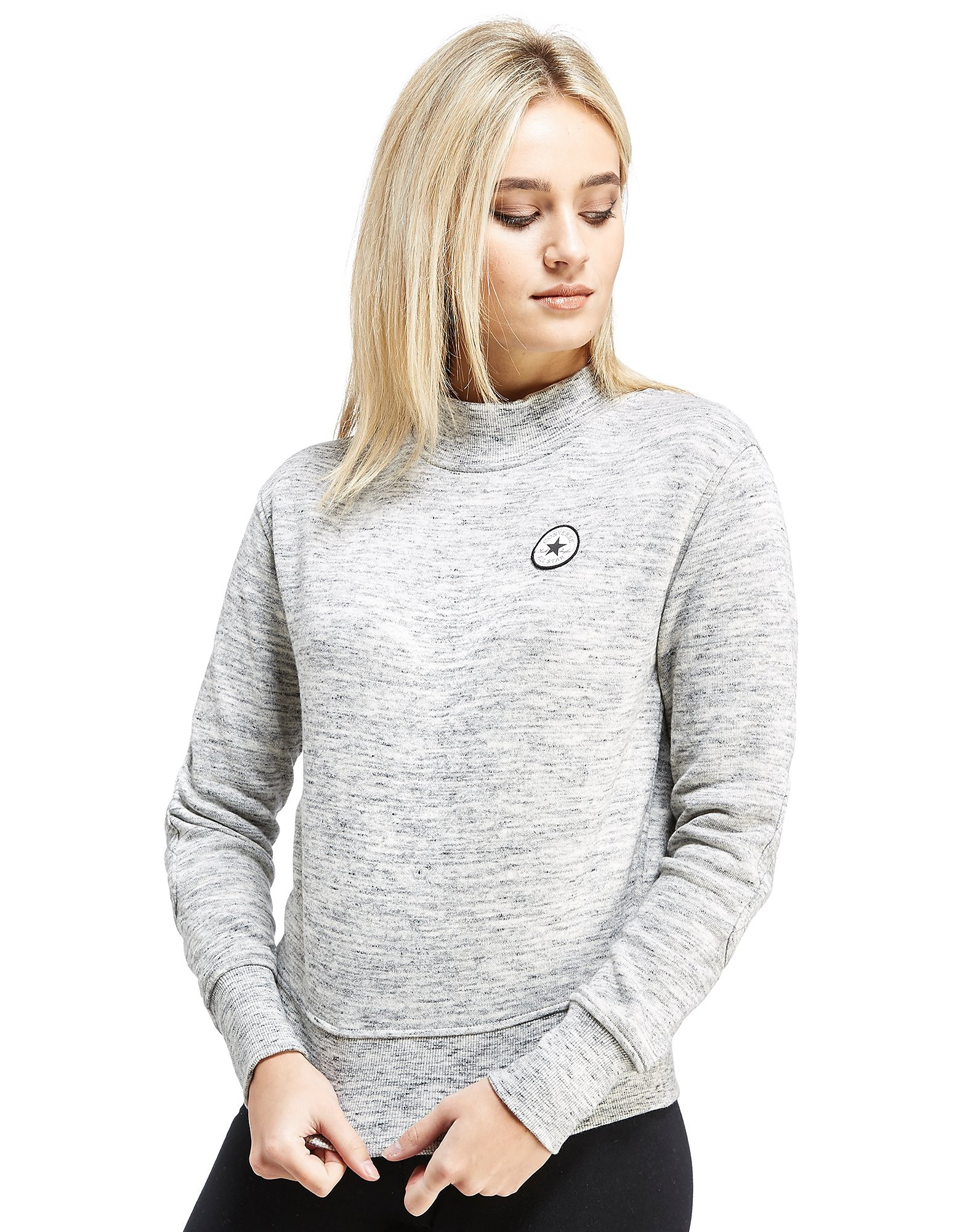 Converse Chuck Quilted Mock Neck Sweatshirt