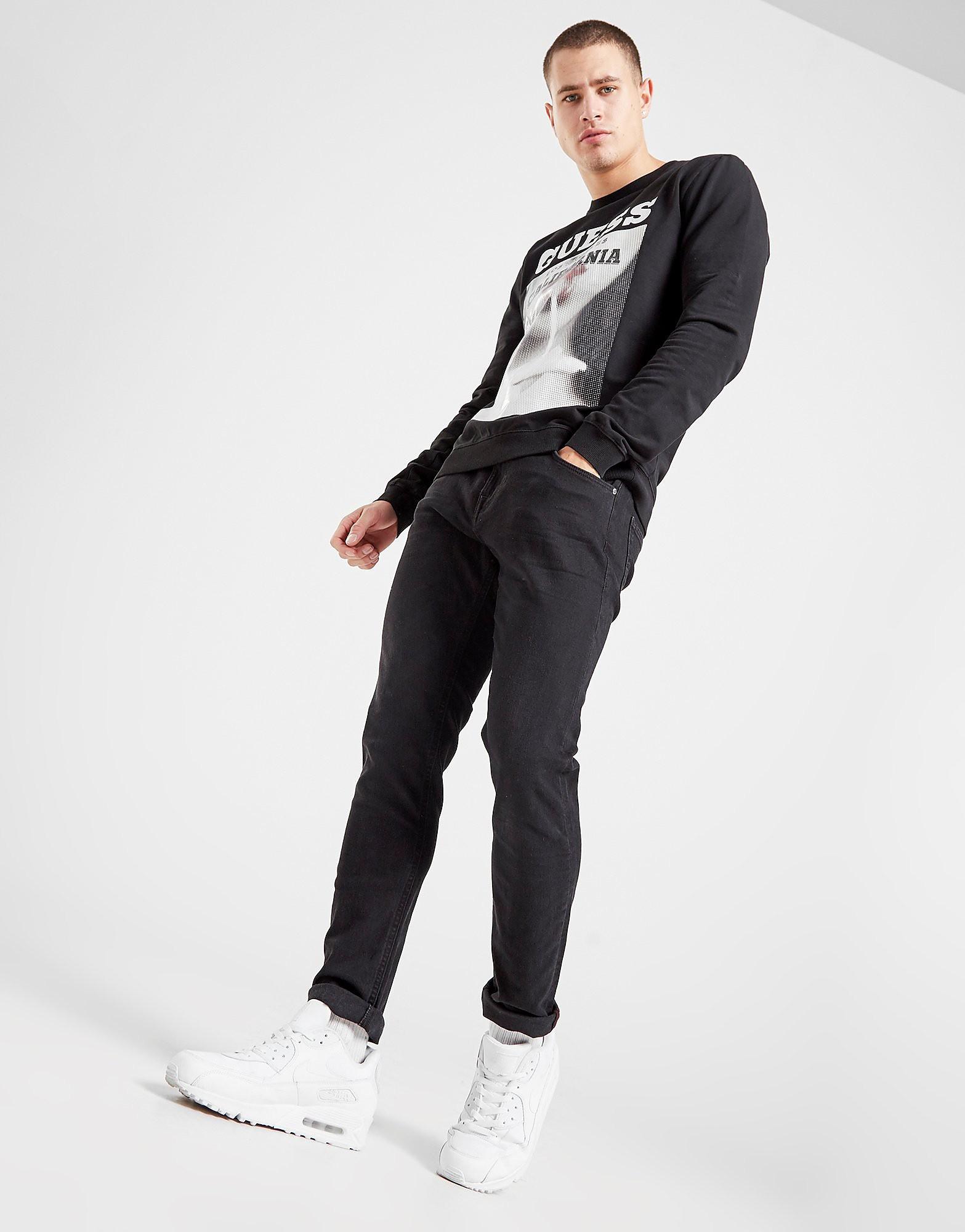 Guess Chris Slim Jeans Zwart Heren Zwart