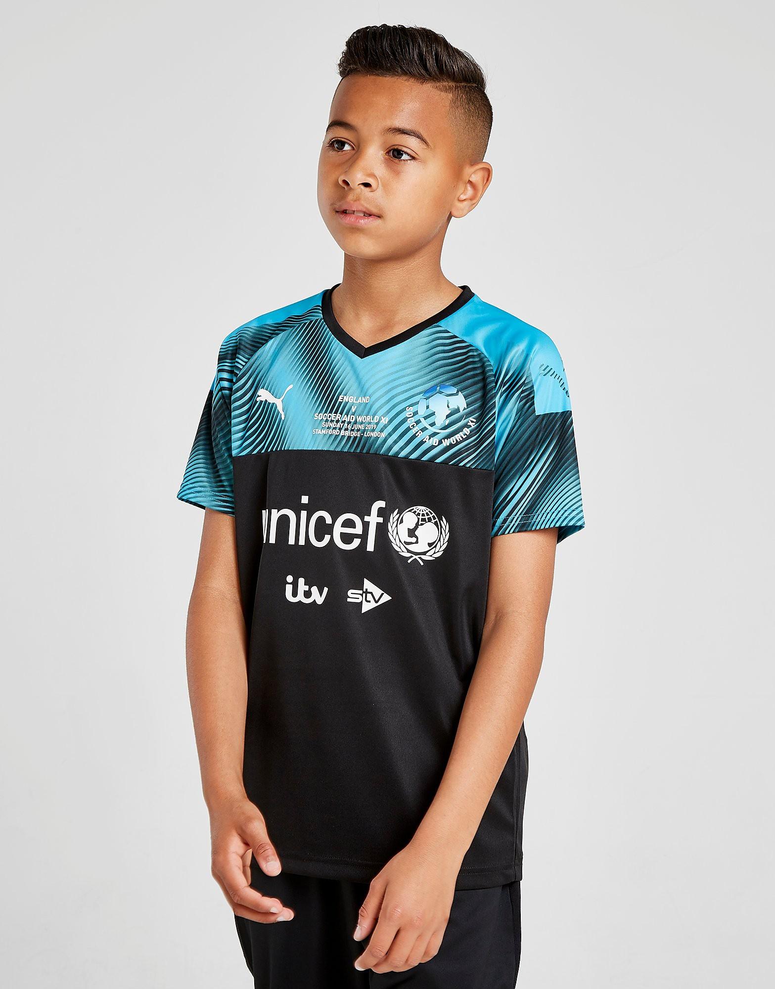 PUMA Soccer Aid 2019 World XI Shirt Junior Zwart Kind