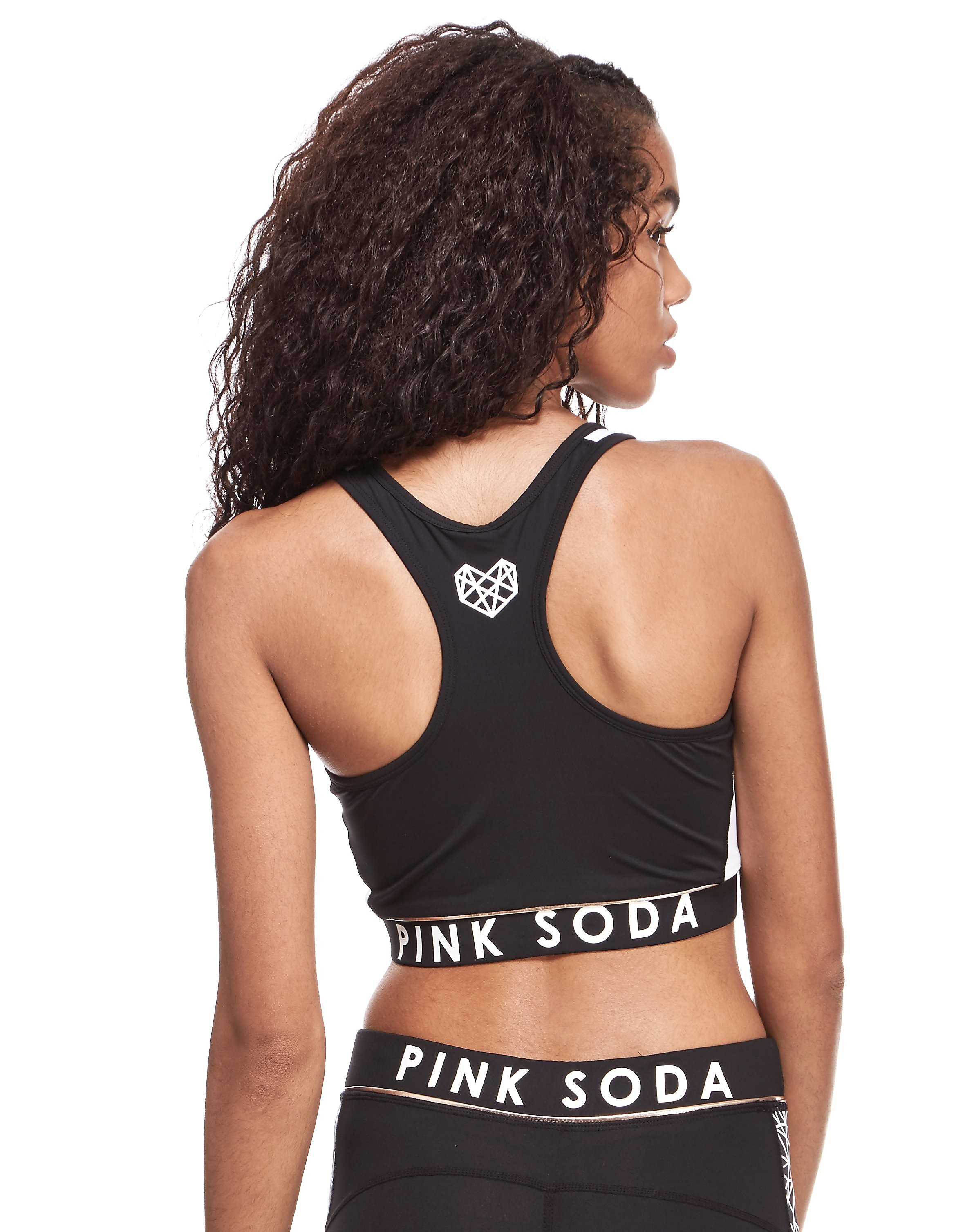 Pink Soda Sport Reversible Heart Sports Bra