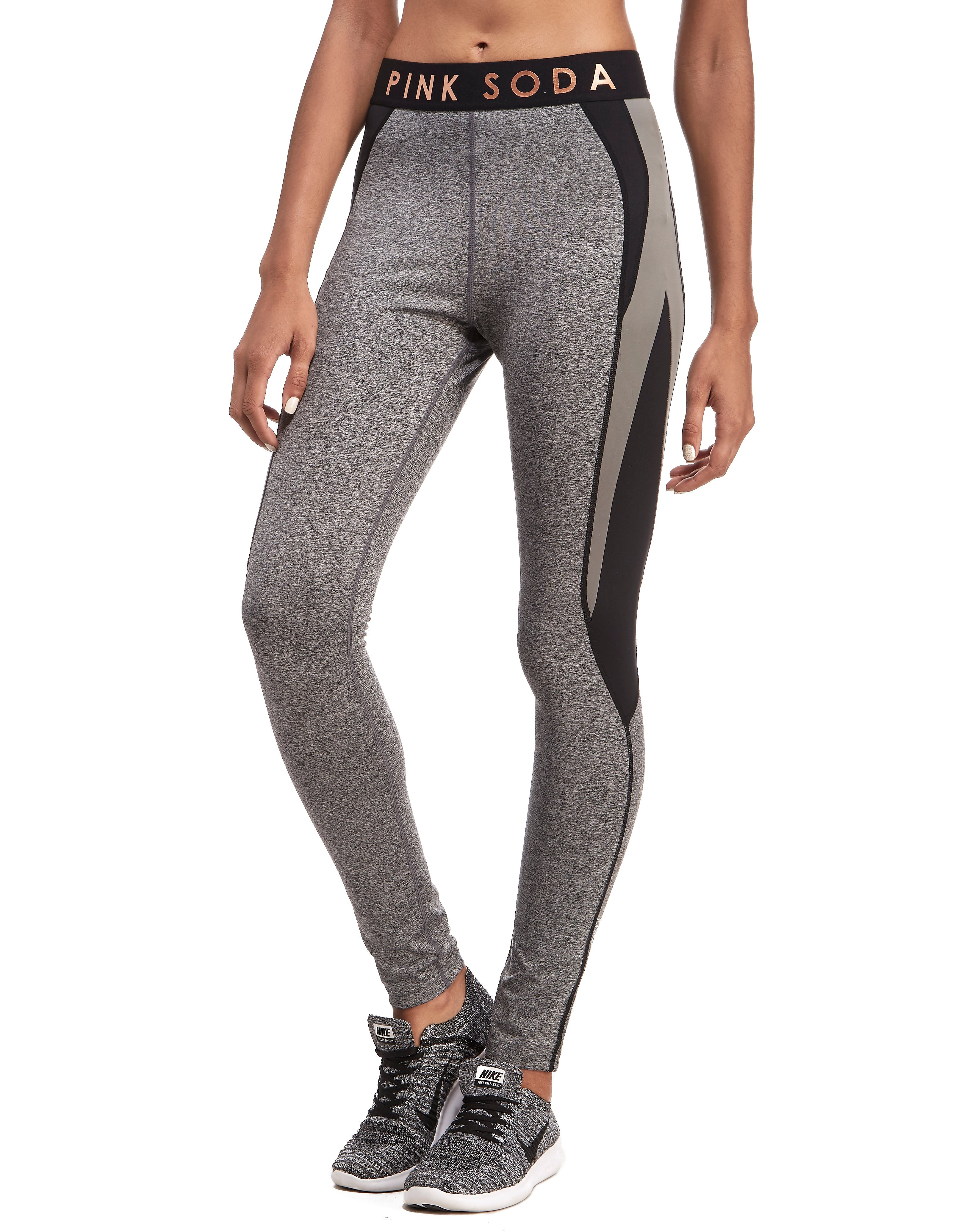 Pink Soda Sport Grindle Panel Tights