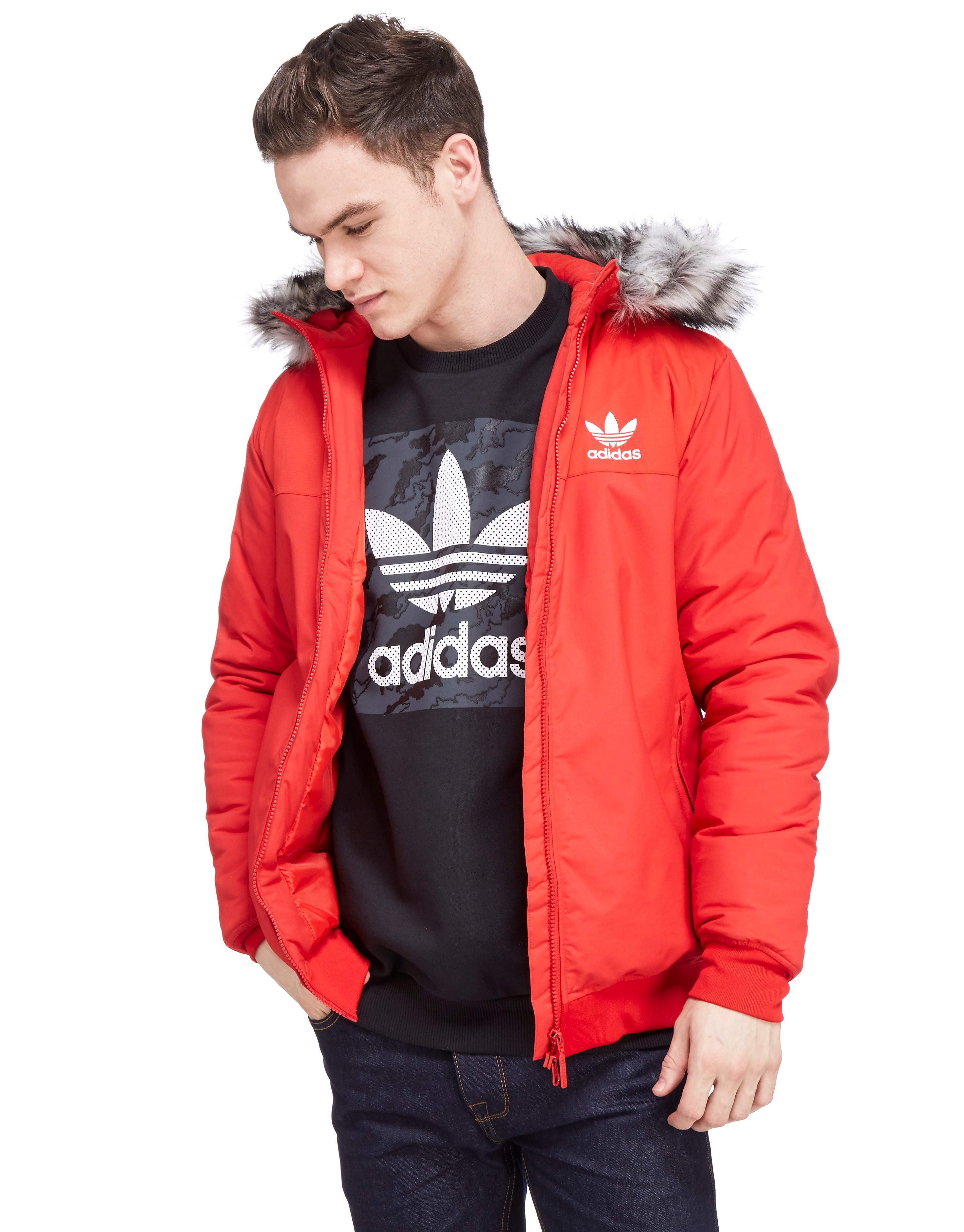 adidas Originals Trefoil Fur Jacket