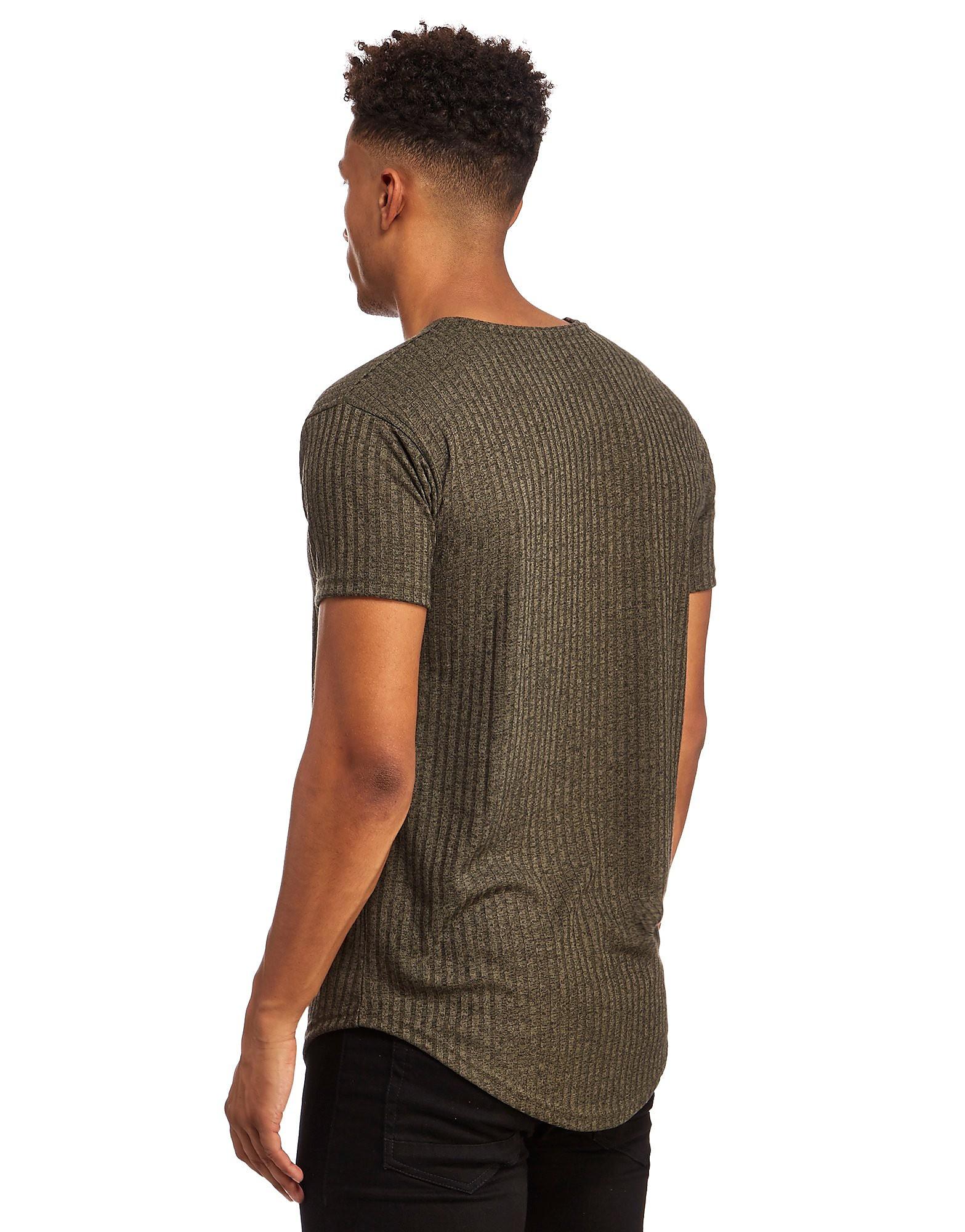 SikSilk Camiseta de punto nervado