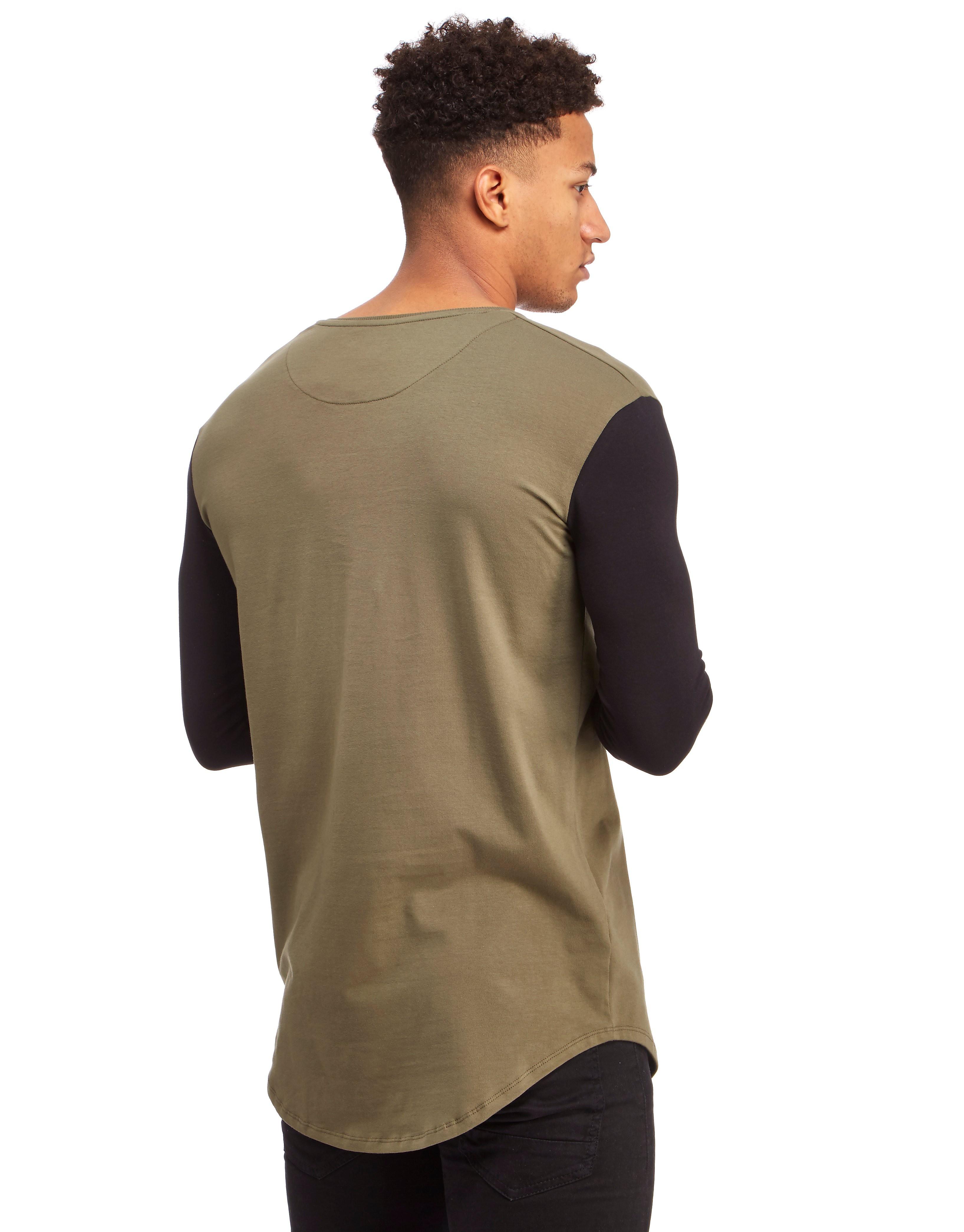 SikSilk Contrast Longsleeve T-Shirt