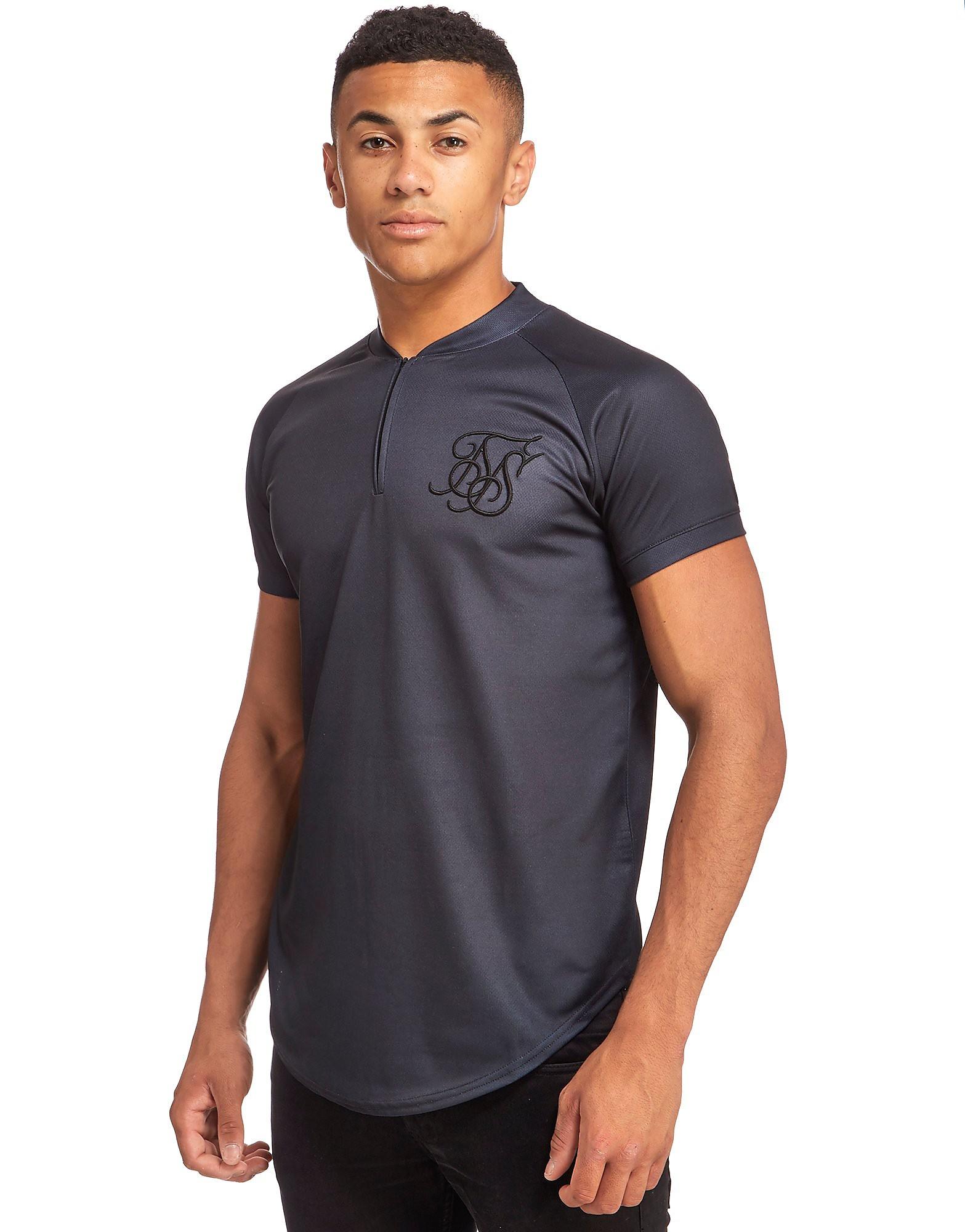SikSilk Baseball Zip T-Shirt