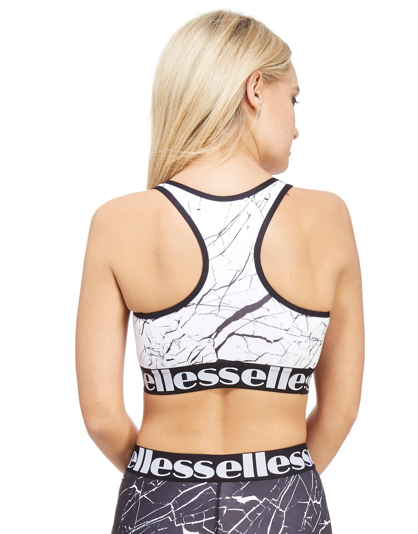 Ellesse All-Over Print Marble Sports Bra
