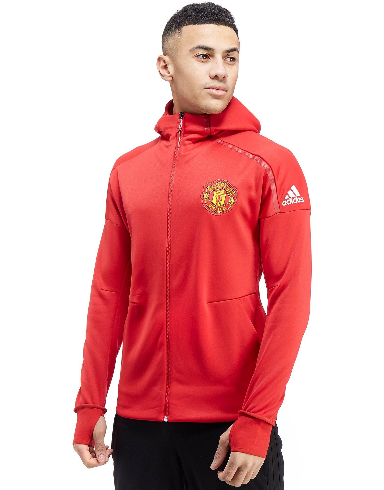 adidas Sudadera con capucha Manchester United FC ZNE Anthem