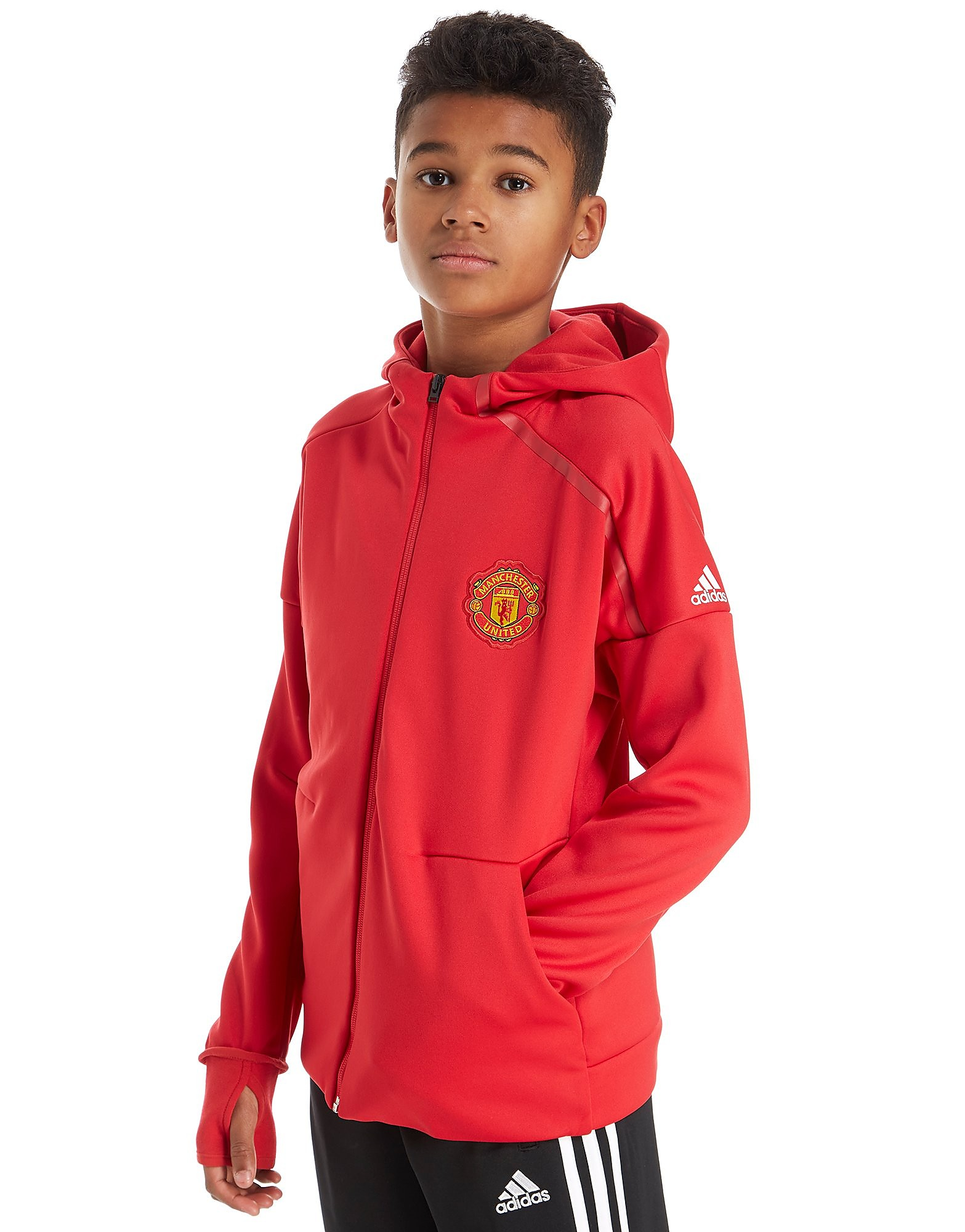 adidas Sudadera con capucha Manchester United FC ZNE Anthem júnior