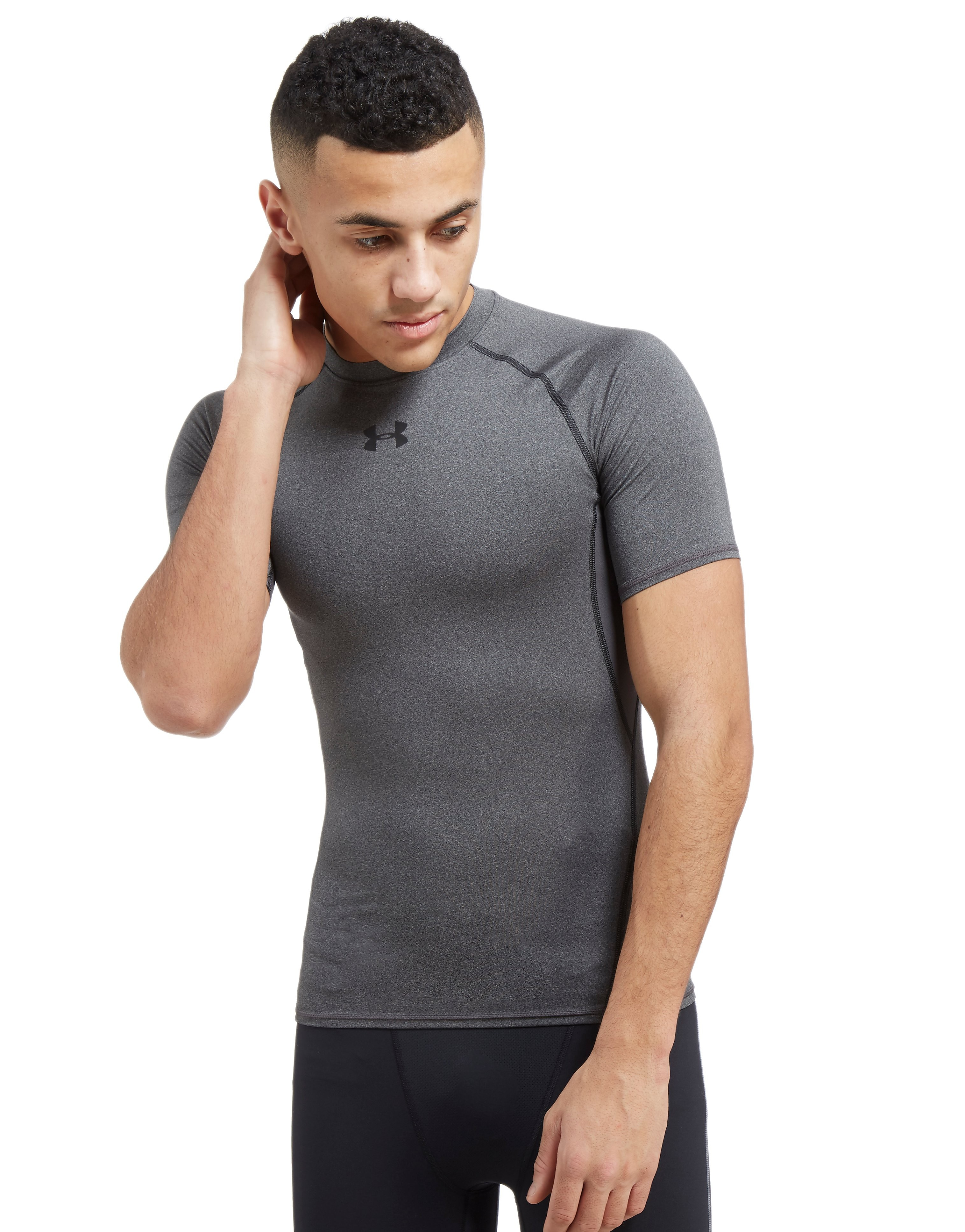Under Armour HeatGear Compression T-Shirt Heren - Carbon Heather - Heren