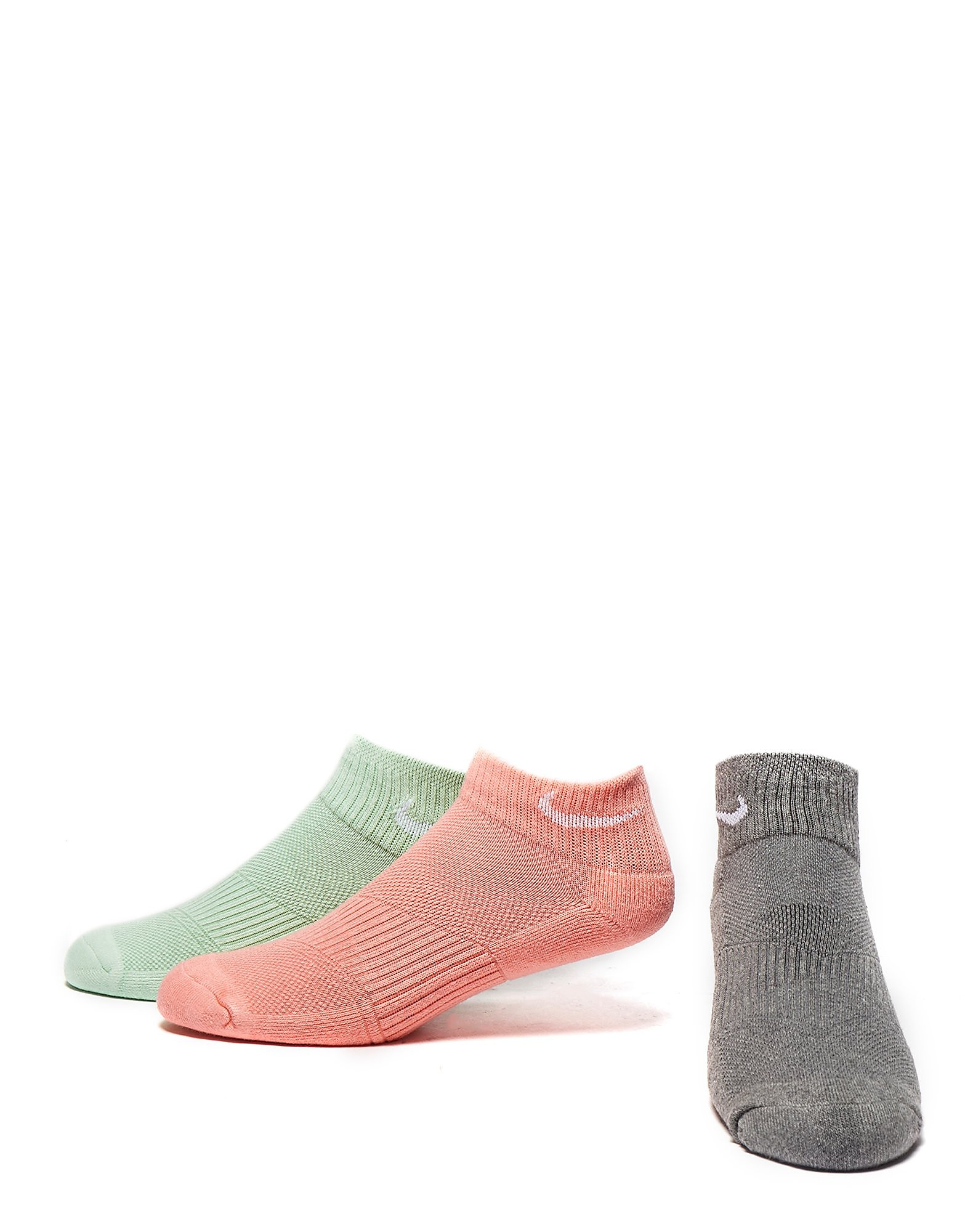 Nike 3 Pack Cushioned Quarter Socks