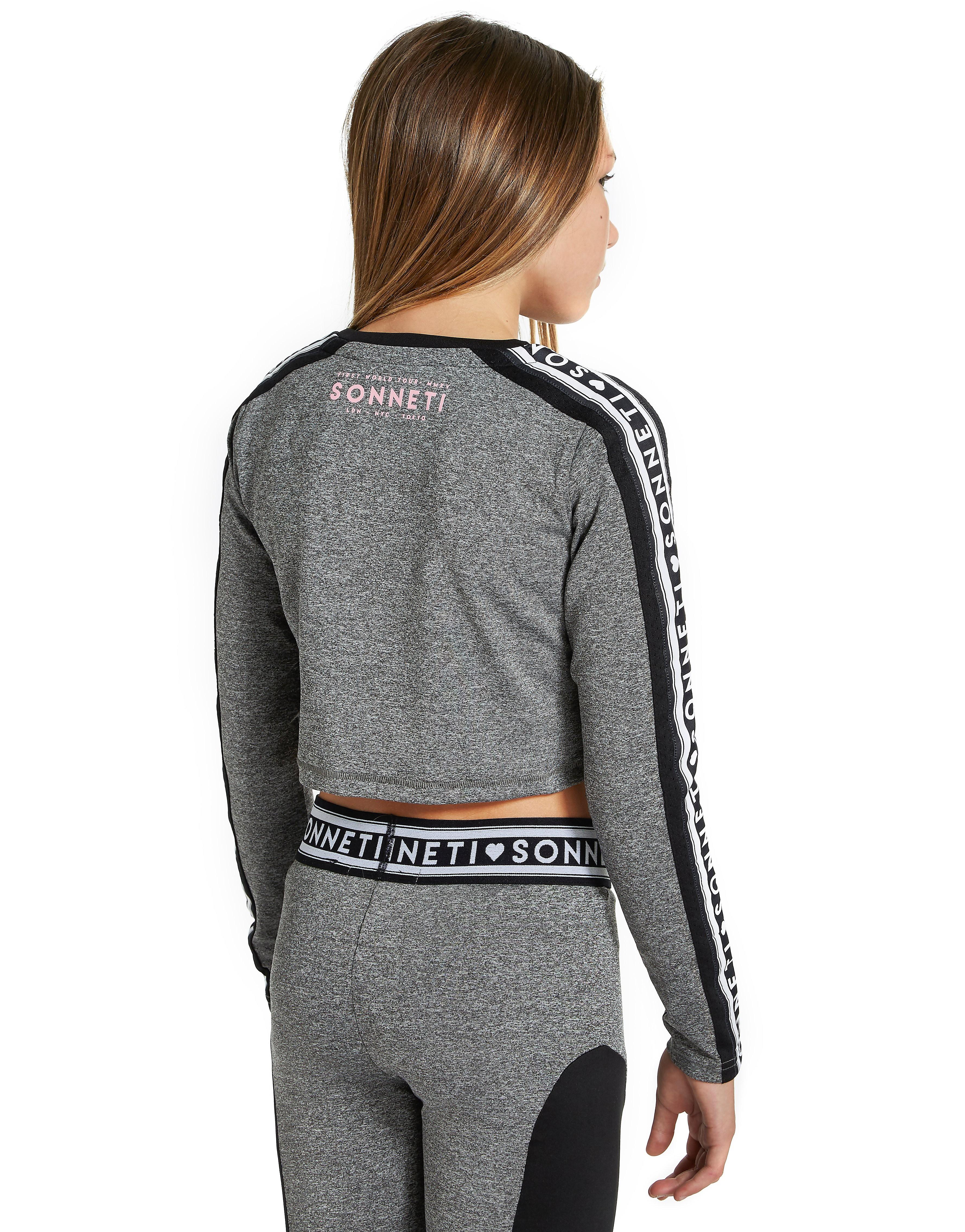 Sonneti Girls' Taper Mesh Crop T-Shirt Junior