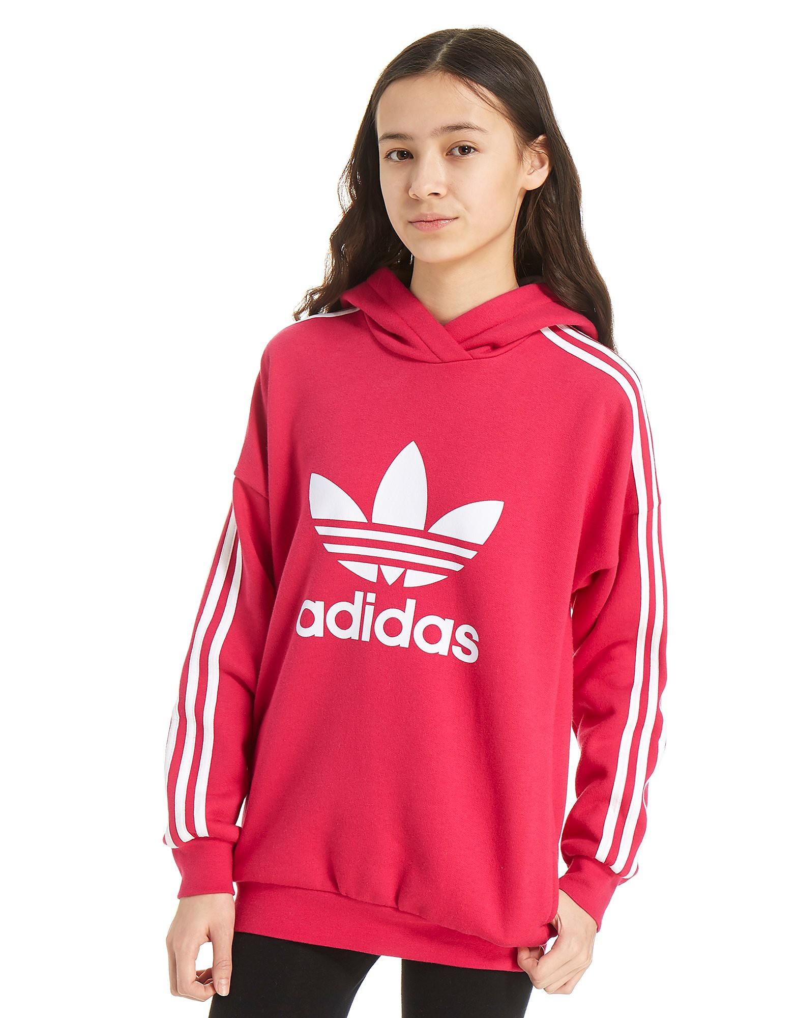 adidas Originals Girls' Trefoil Overhead Hoody Junior