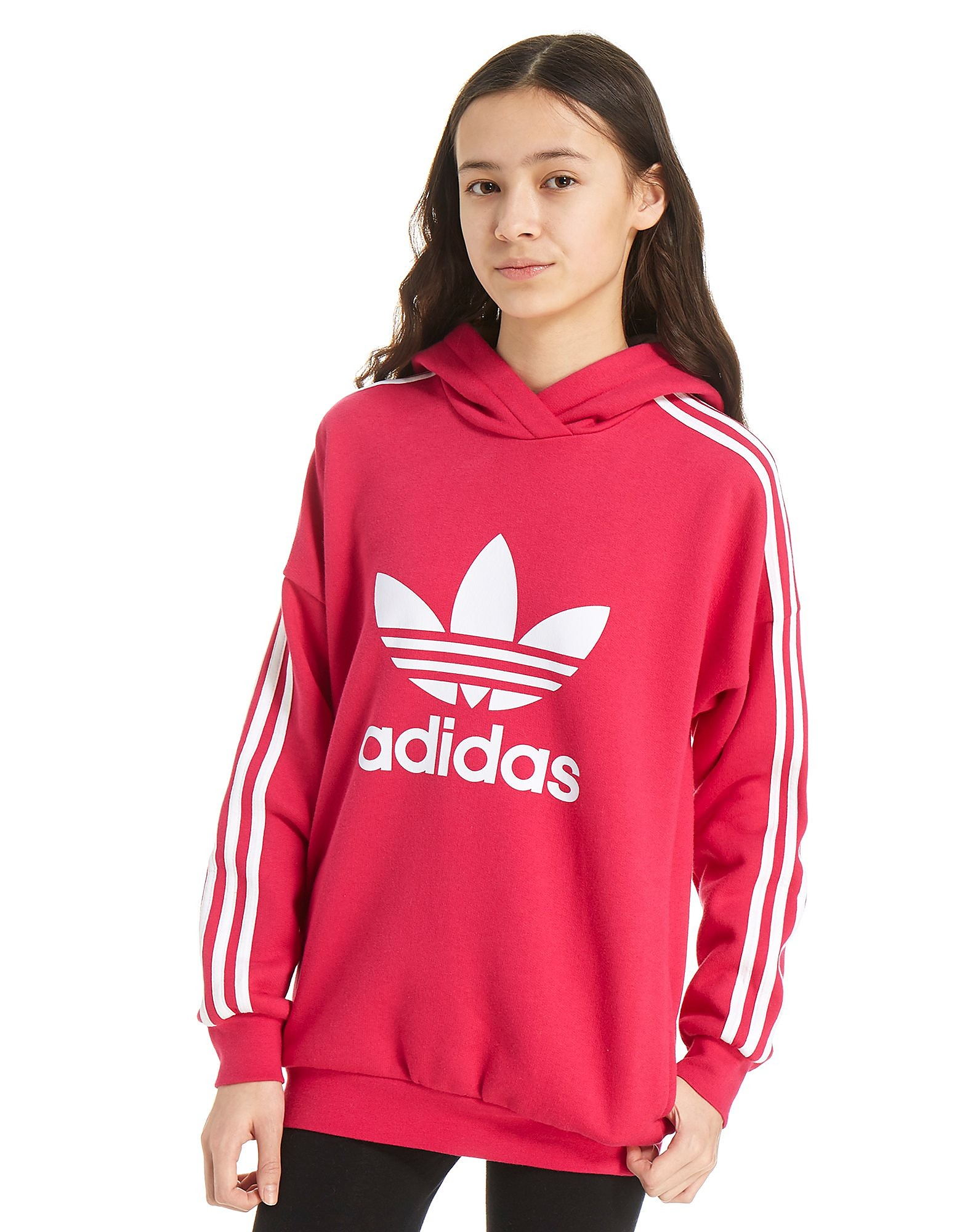 adidas Originals Girls' Trefoil Overhead Hoody Junior