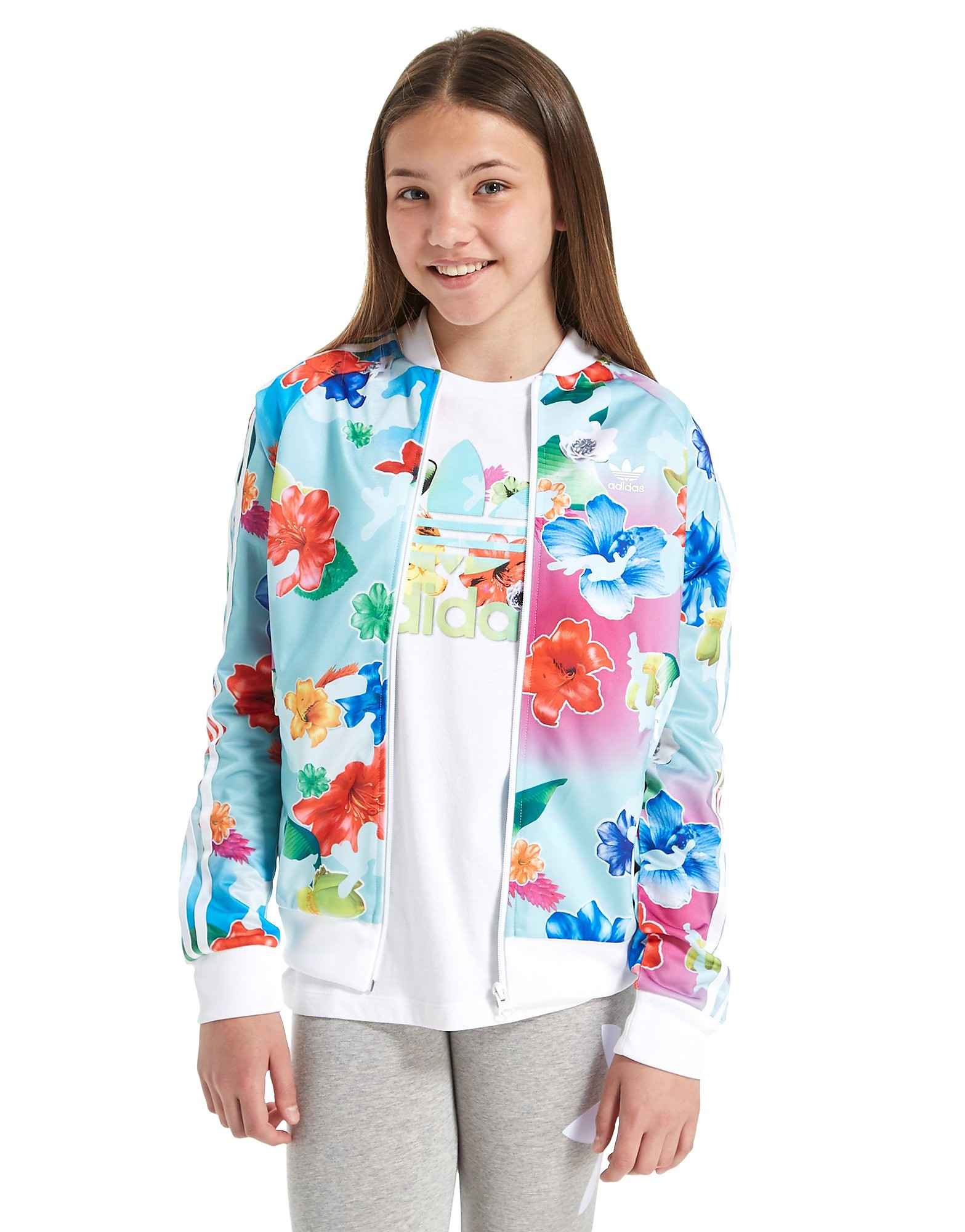 adidas Originals Floral Supergirl Track Top
