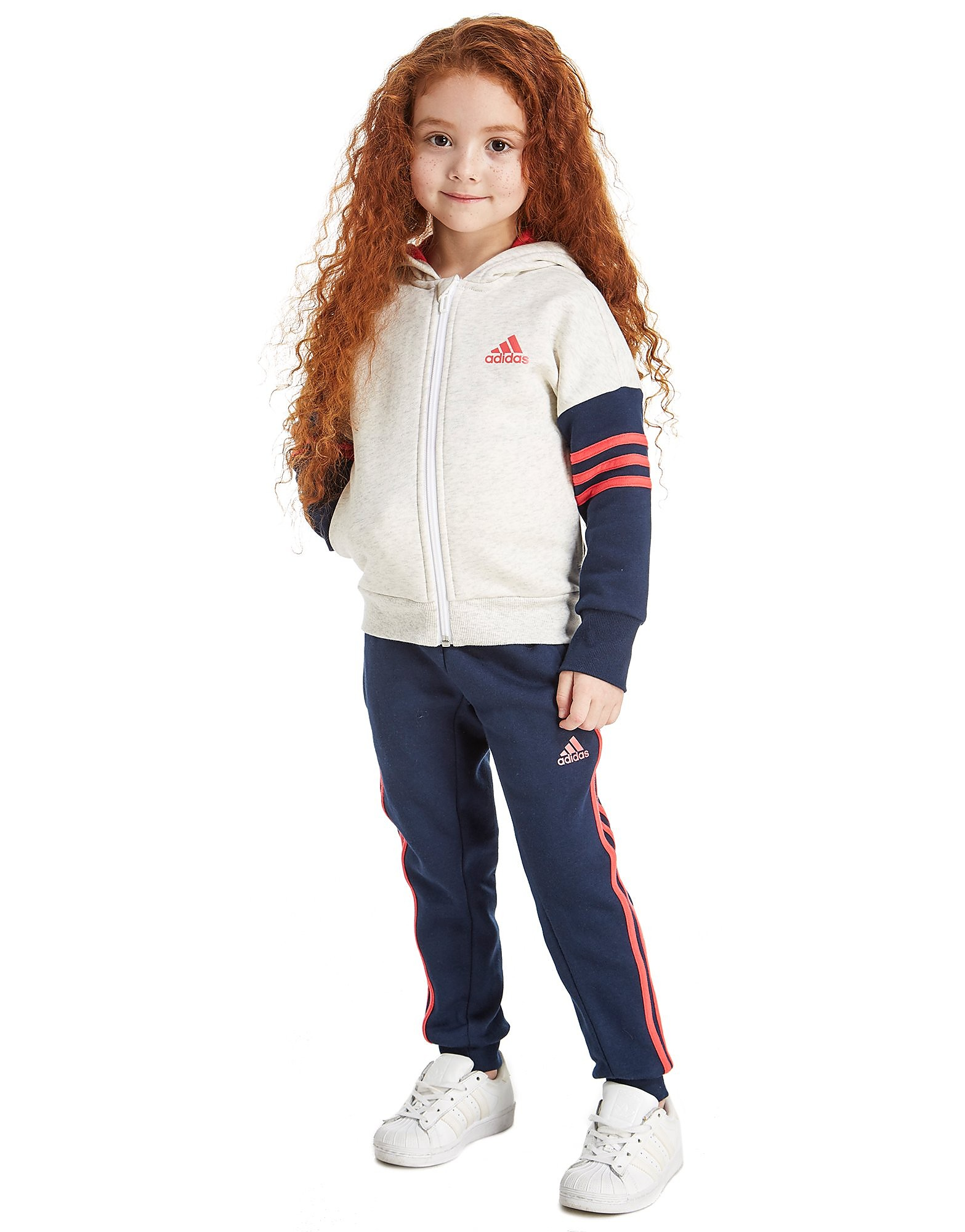 adidas Colour Block Mädchen-Trainingsanzug