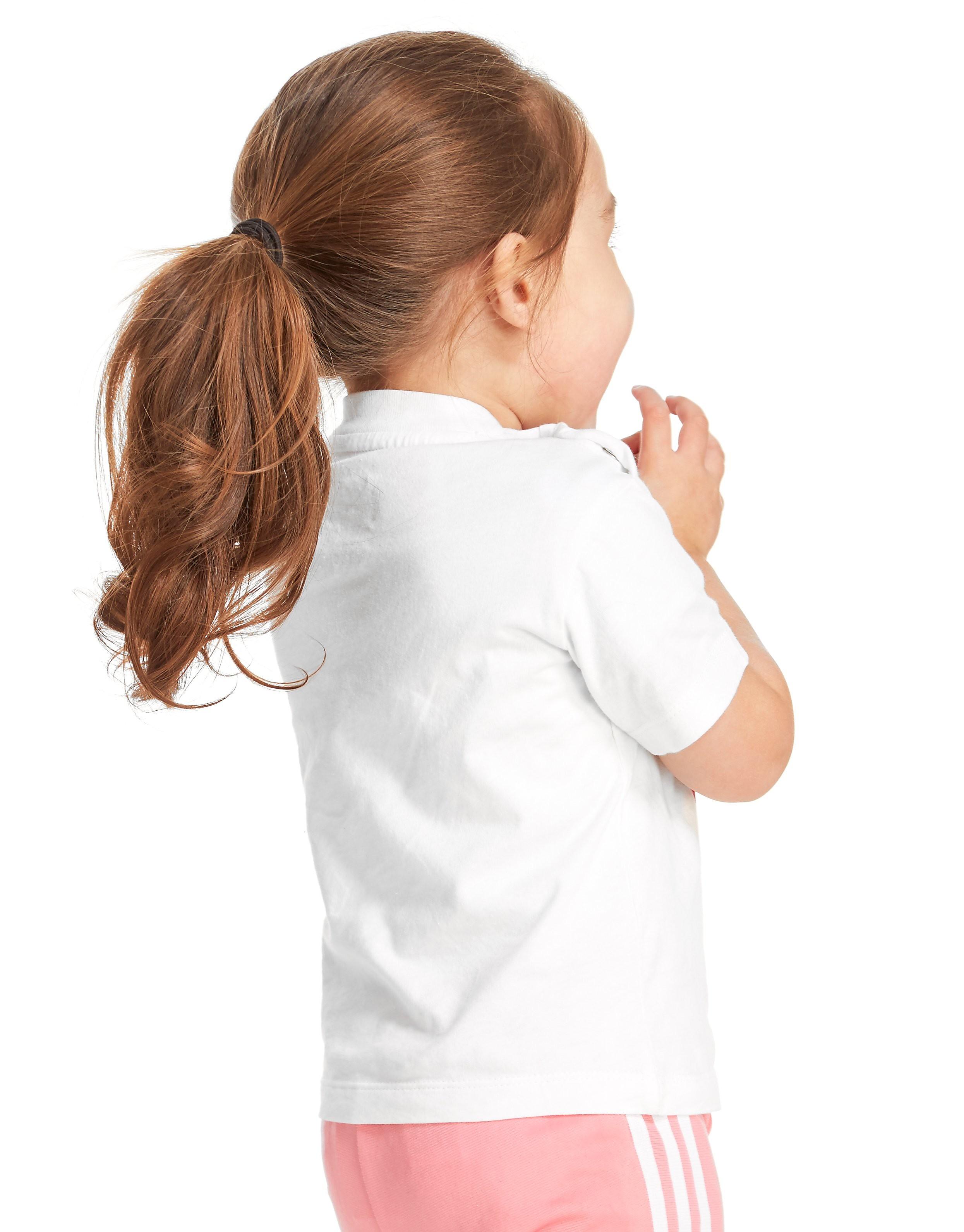 adidas Originals Girls' Trefoil Flock T-Shirt Infant