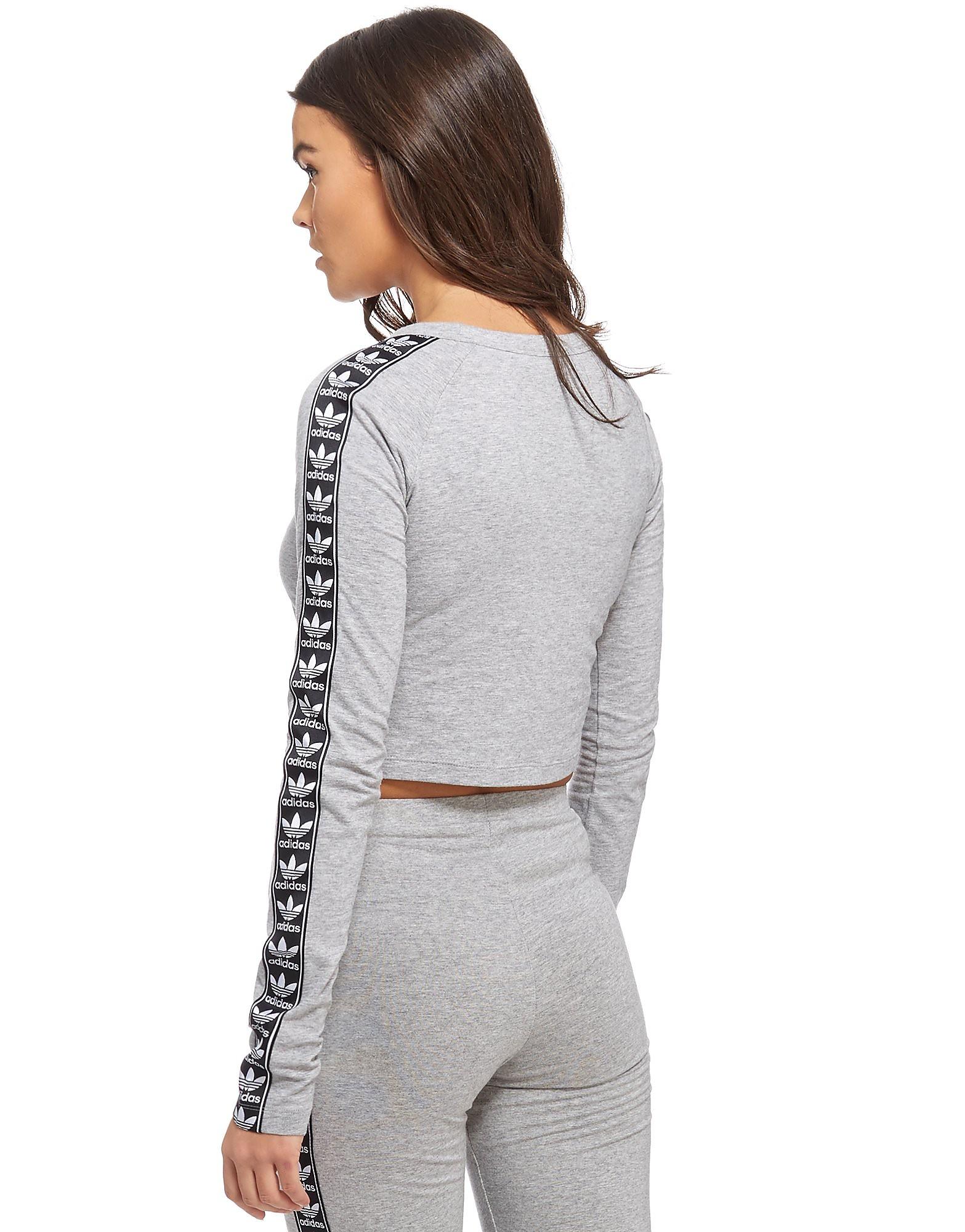 adidas Originals Tape Longsleeve Crop T-Shirt