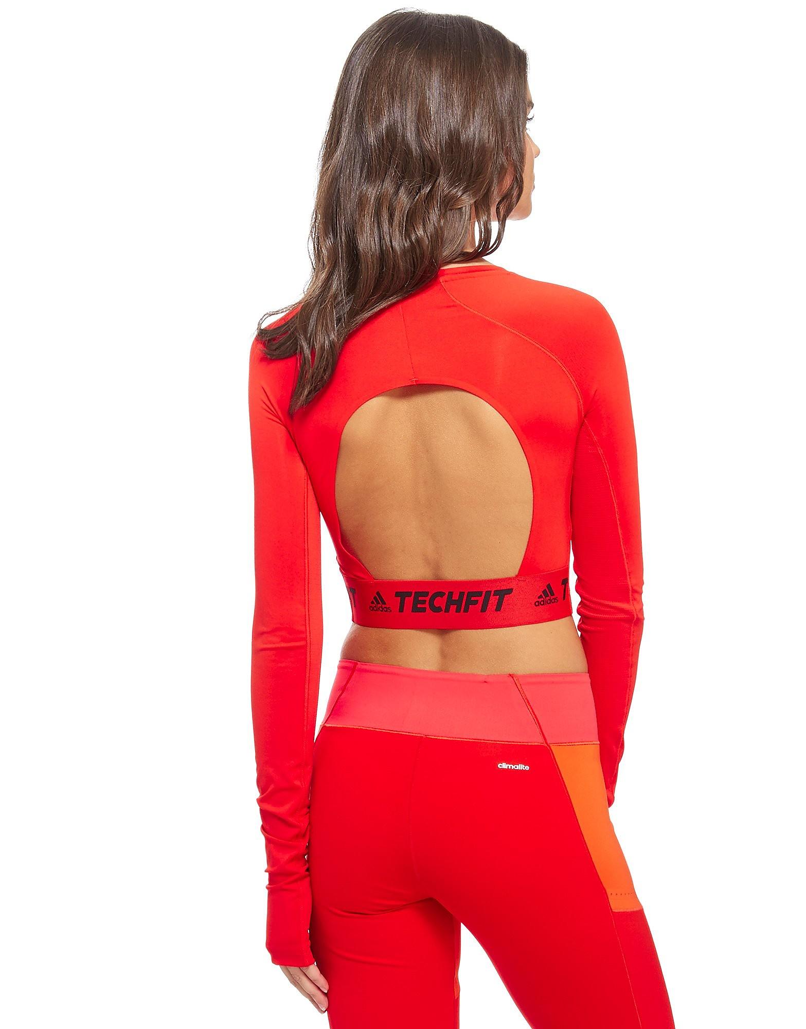 adidas Techfit Long Sleeve Crop Top