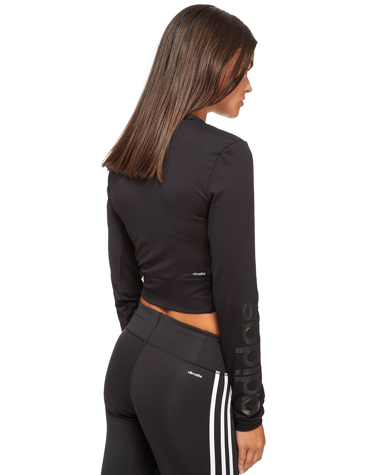 adidas Crop Longsleeve 1/2 Zip Top