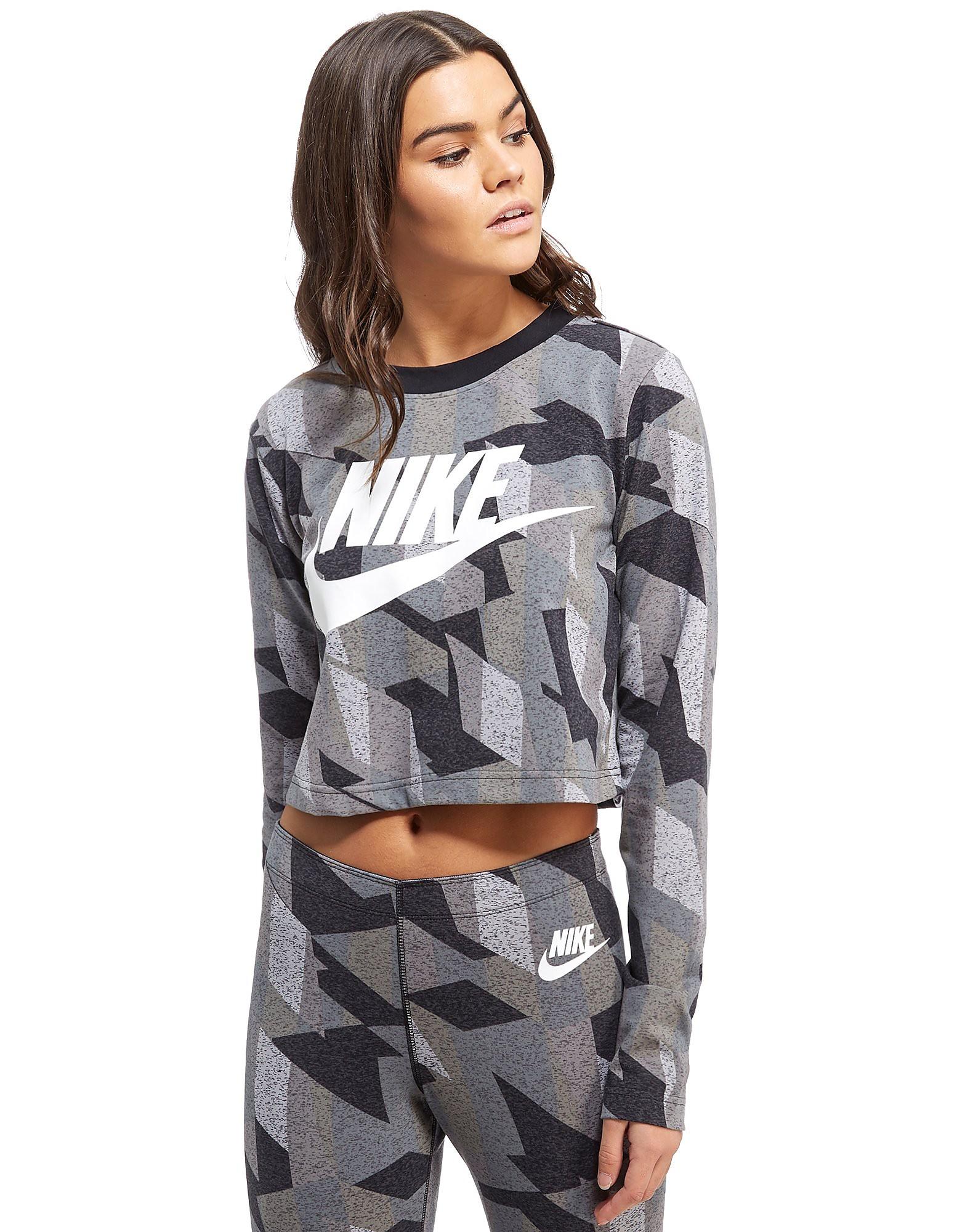 Nike Skyscraper All Over Print Crop T-Shirt