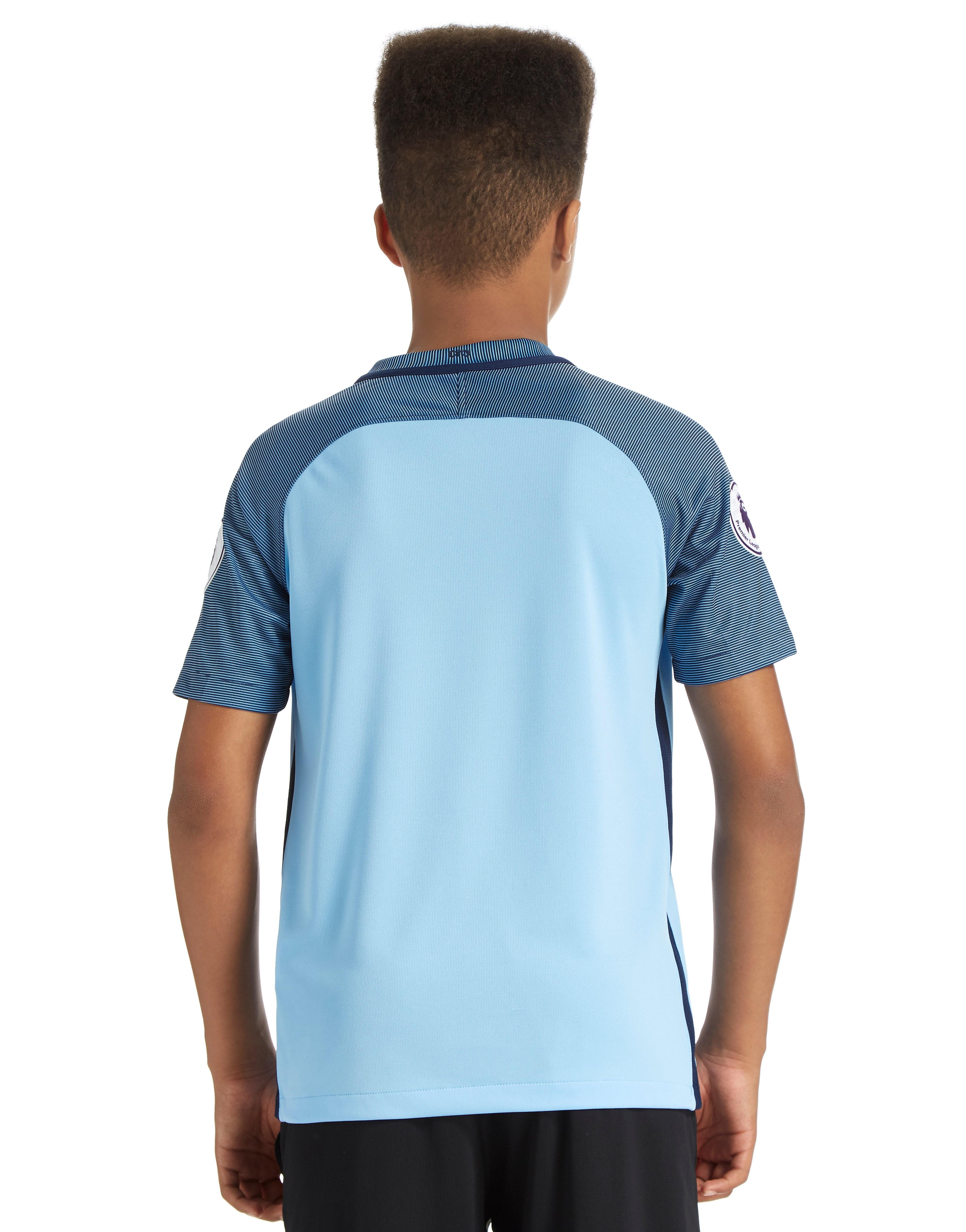 Nike Manchester City FC 2016 Home Prem Badge Shirt Jnr