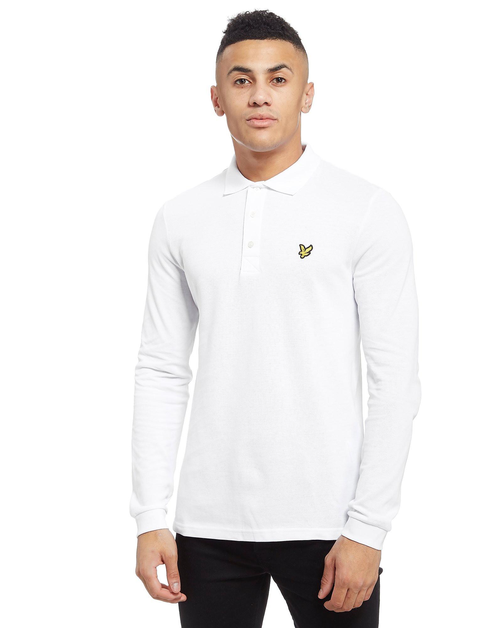 Lyle & Scott Long Sleeve Polo Shirt - blanc, blanc