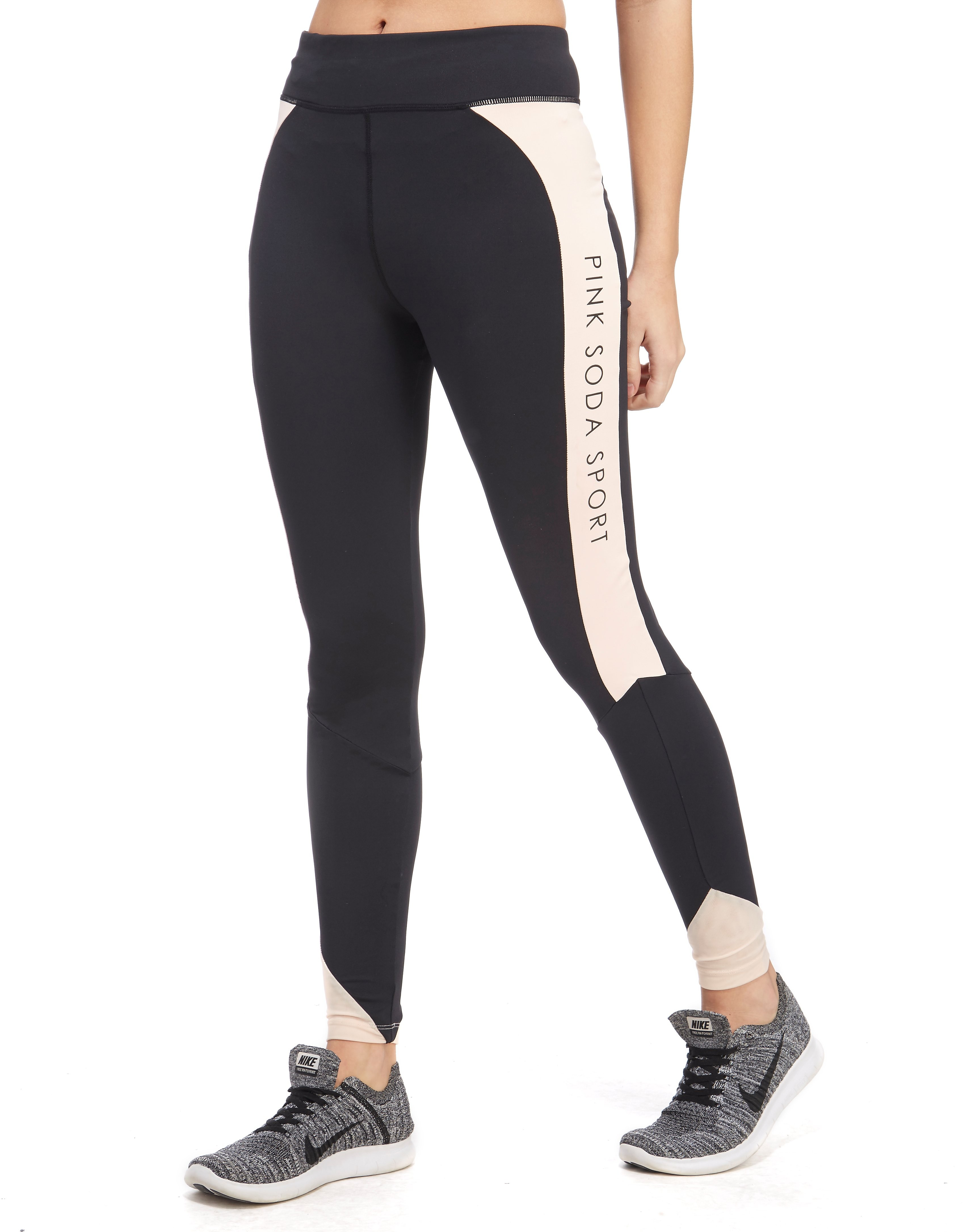 Pink Soda Sport Mesh Angle Fitness Tights