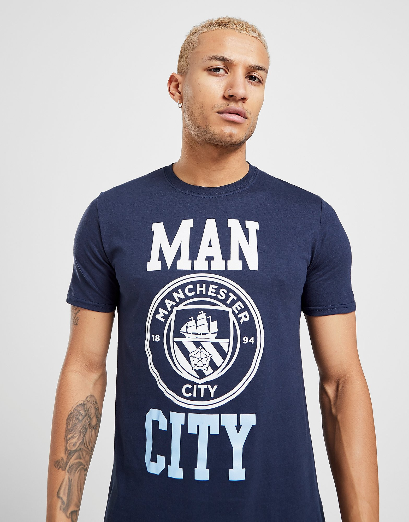 Official Team Manchester City F.C Block T-Shirt