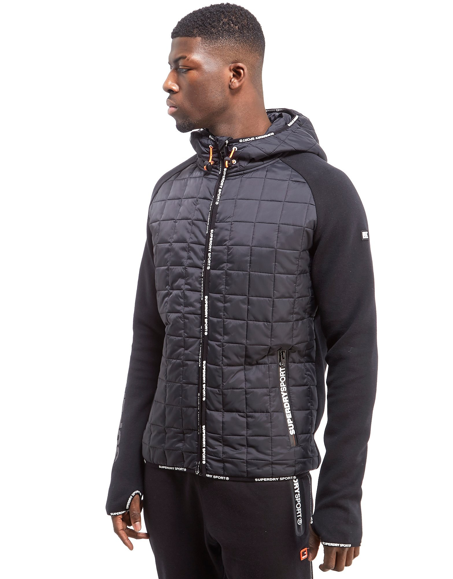 Superdry Gym Tech Hybrid Zip Hooded Jacket