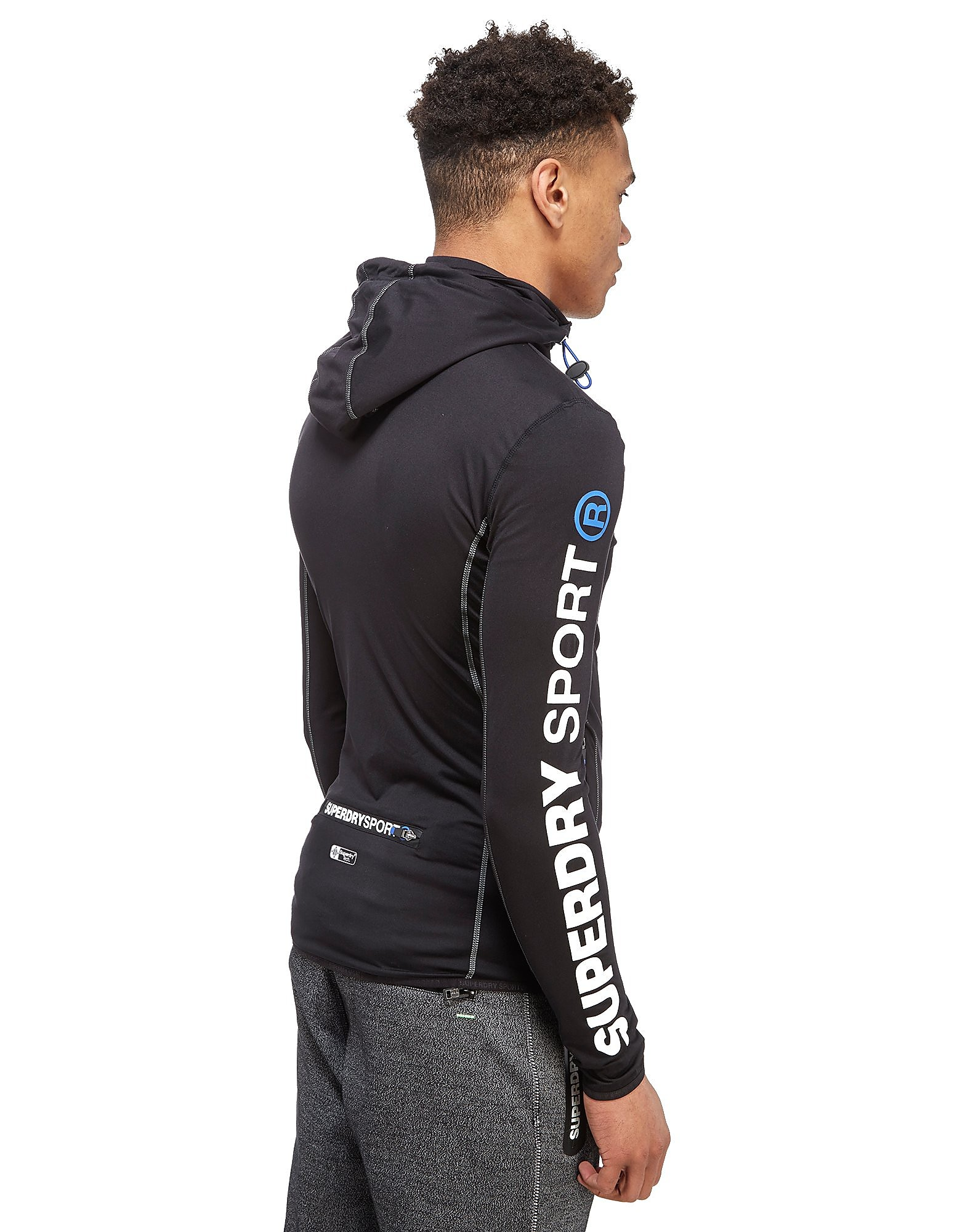 Superdry Sports Athletic Panel Zip Hoody