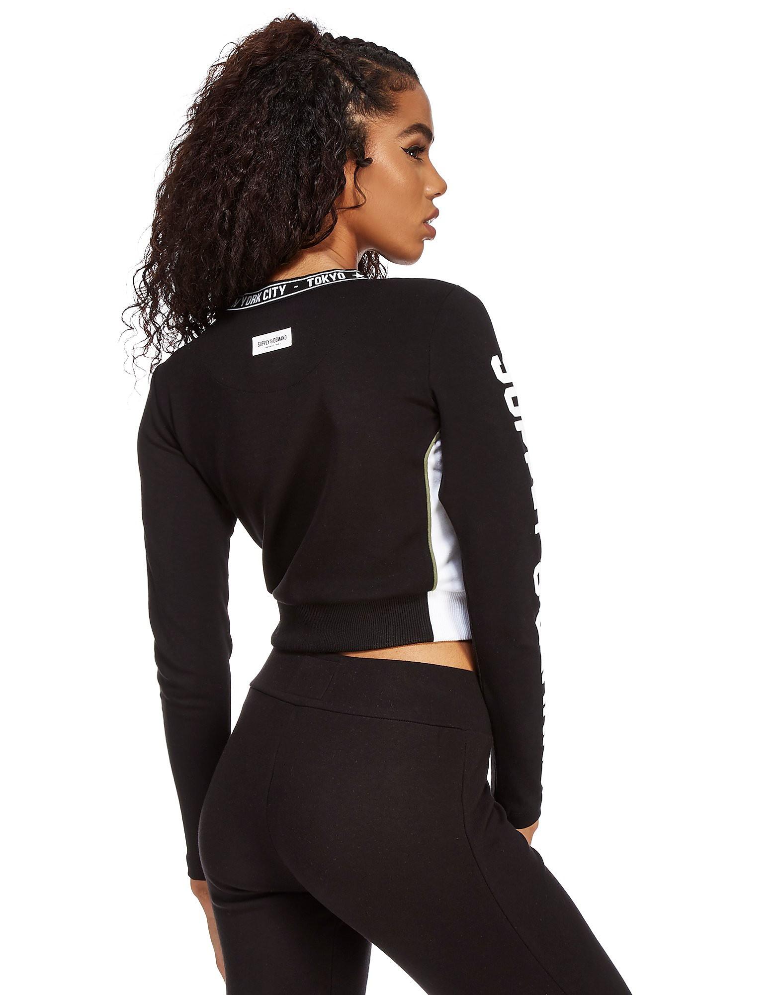 Supply & Demand Zip Longsleeve Crop T-Shirt