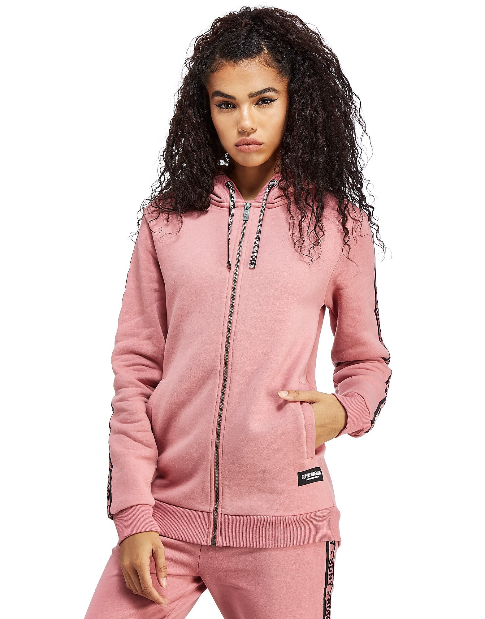 Supply & Demand Longline Zip Up Hoody
