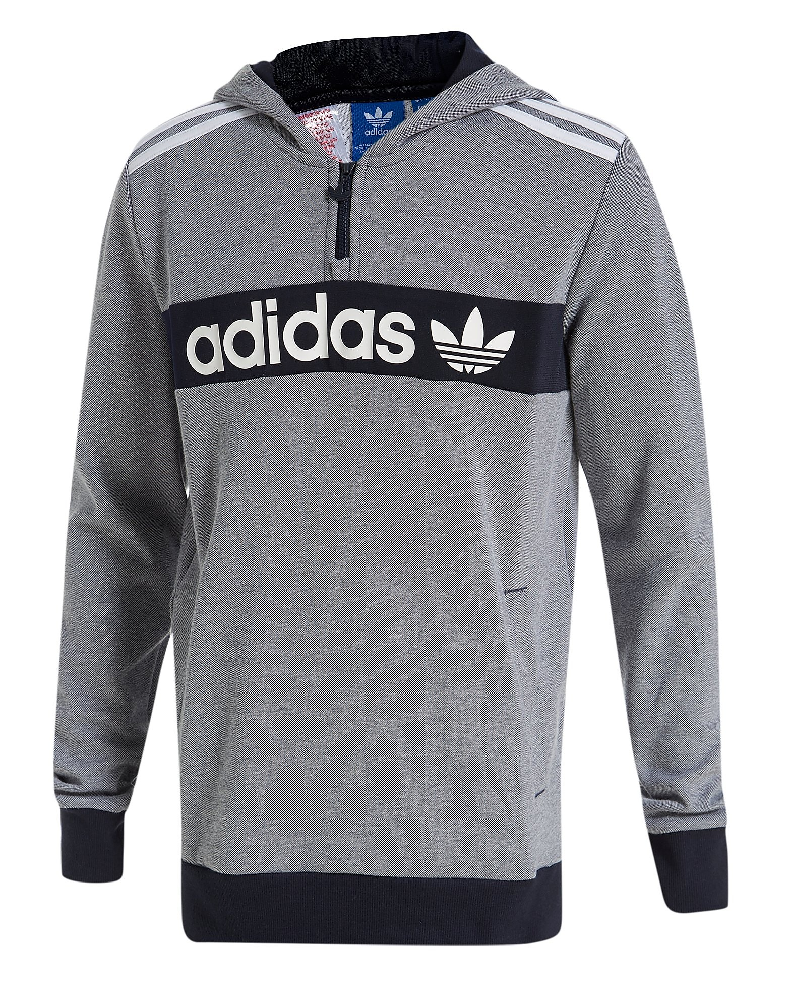 adidas Originals 1/2 Zip Pique Hoody Junior