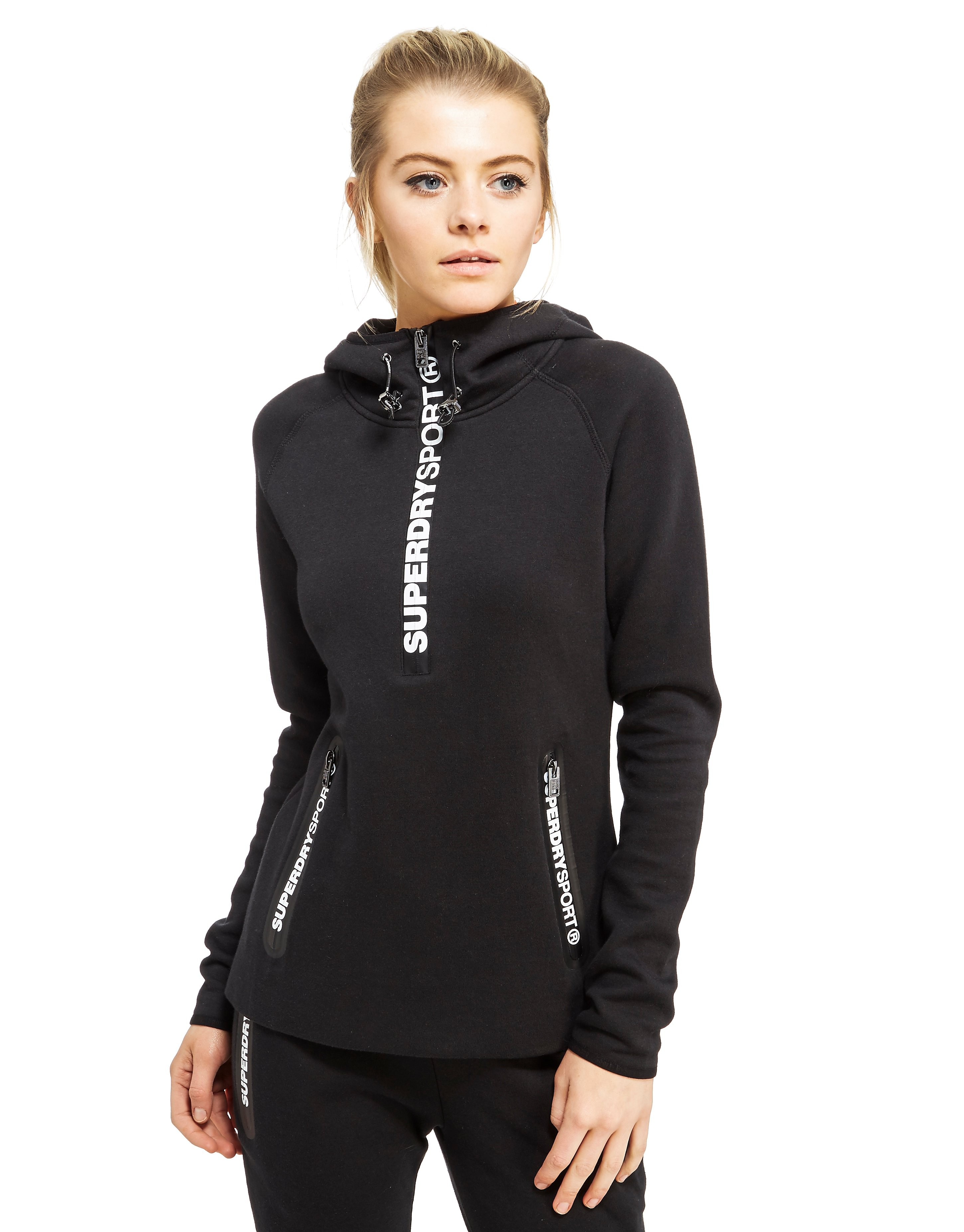 Superdry Sweat à capuche Gym Tech Half Zip