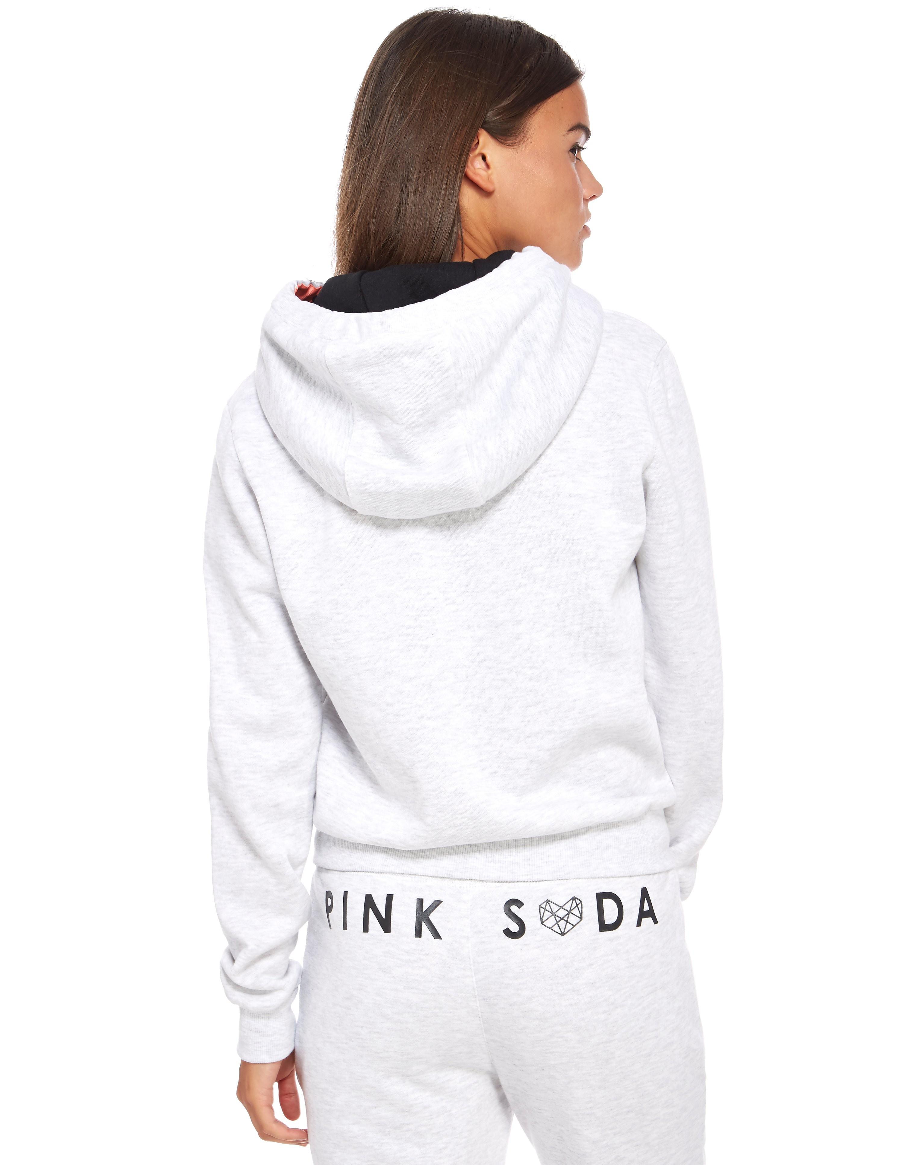Pink Soda Sport Heart Zip Through Hoody