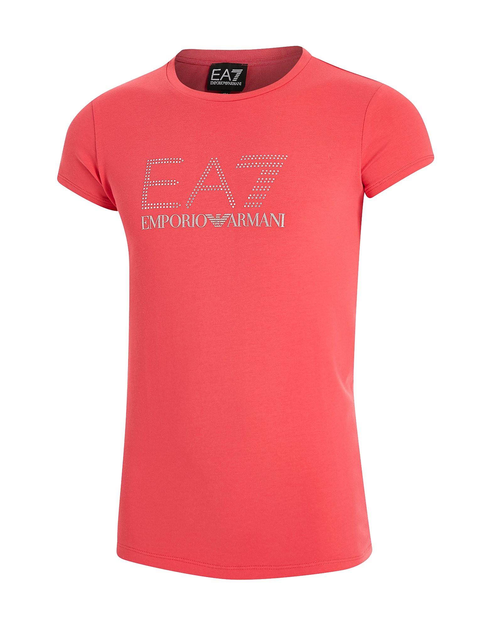 Emporio Armani EA7 Girls' Bling T-Shirt Junior