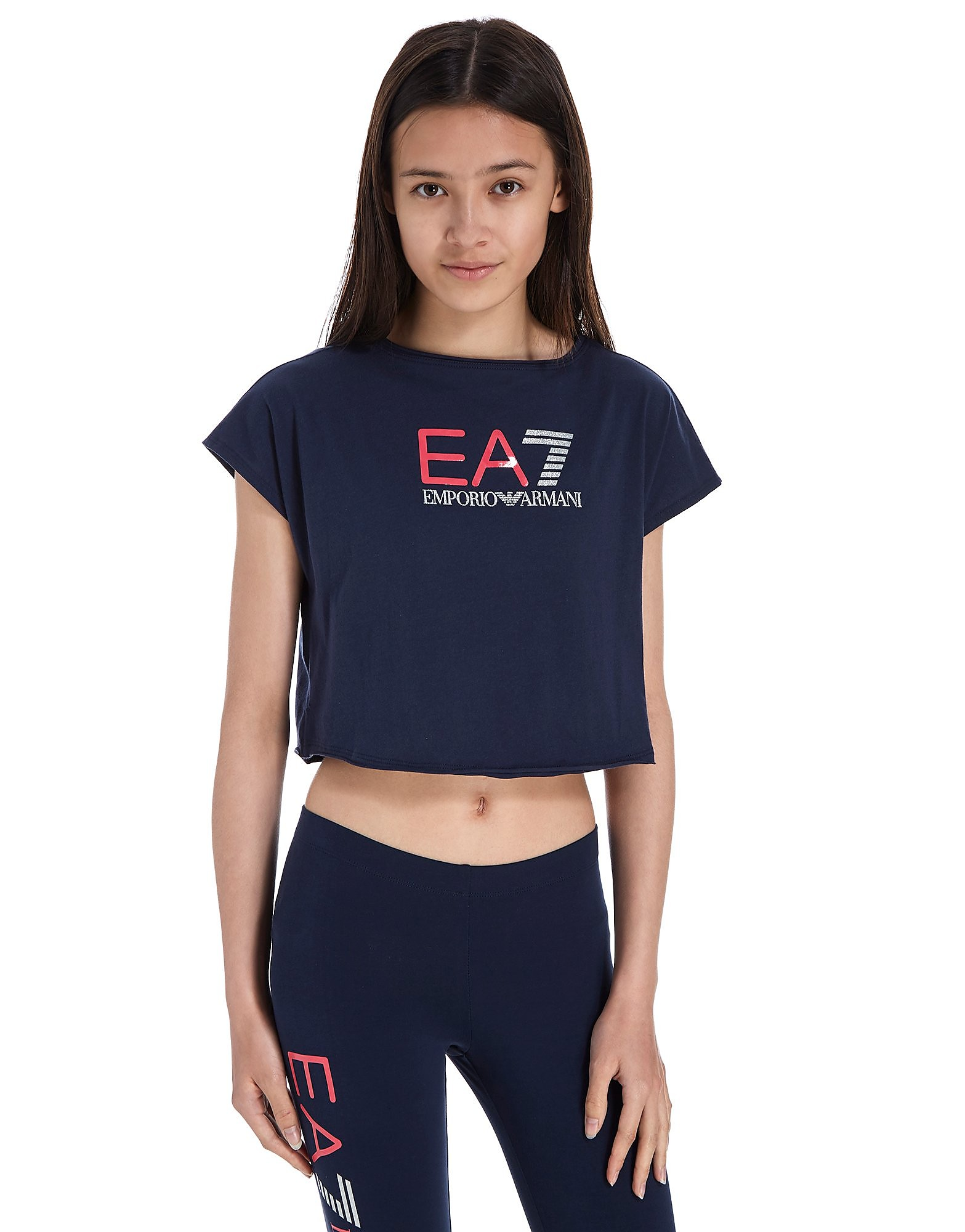 Emporio Armani EA7 Girls' Crop T-Shirt Junior