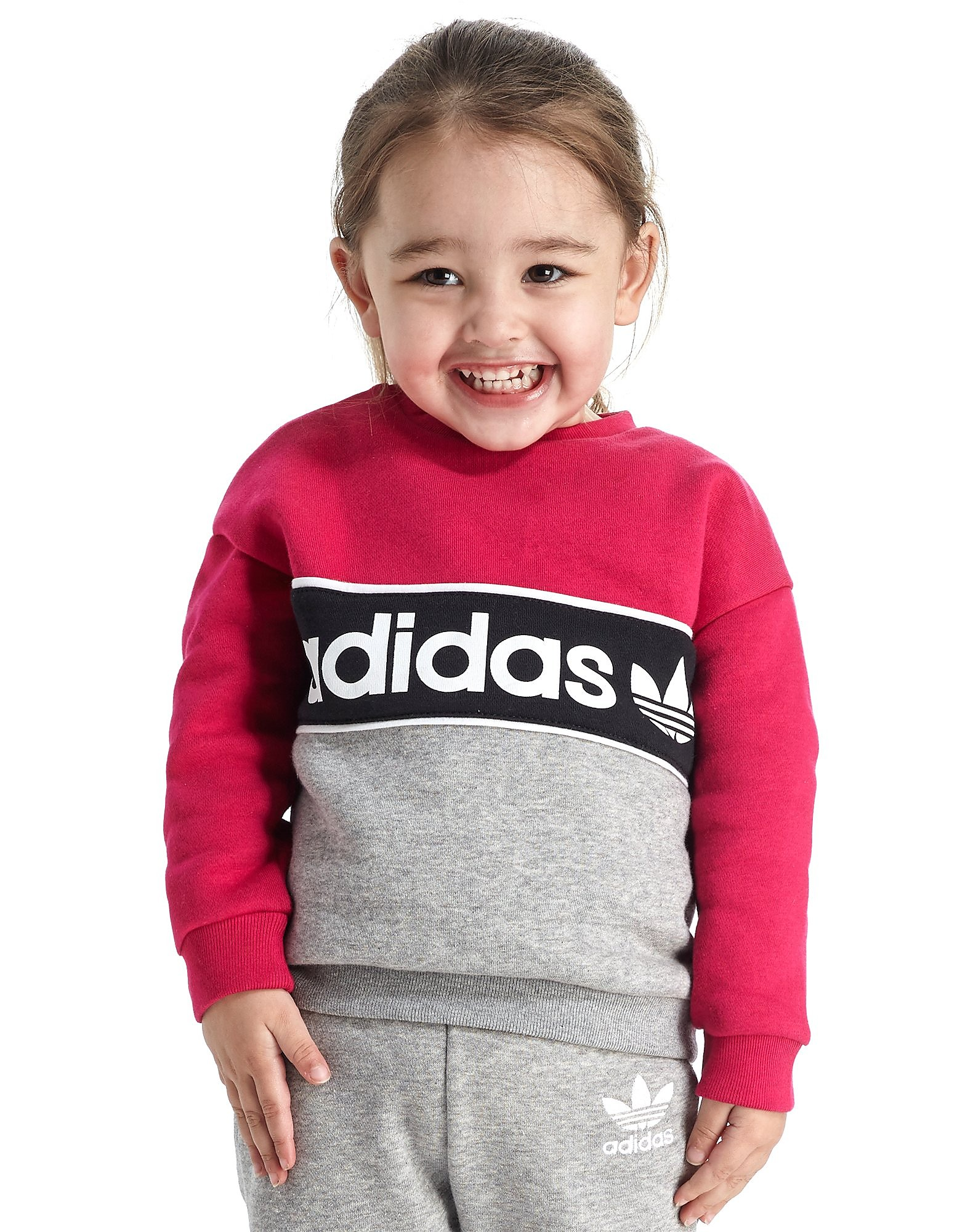 adidas Originals Girls' Crew Suit Infant