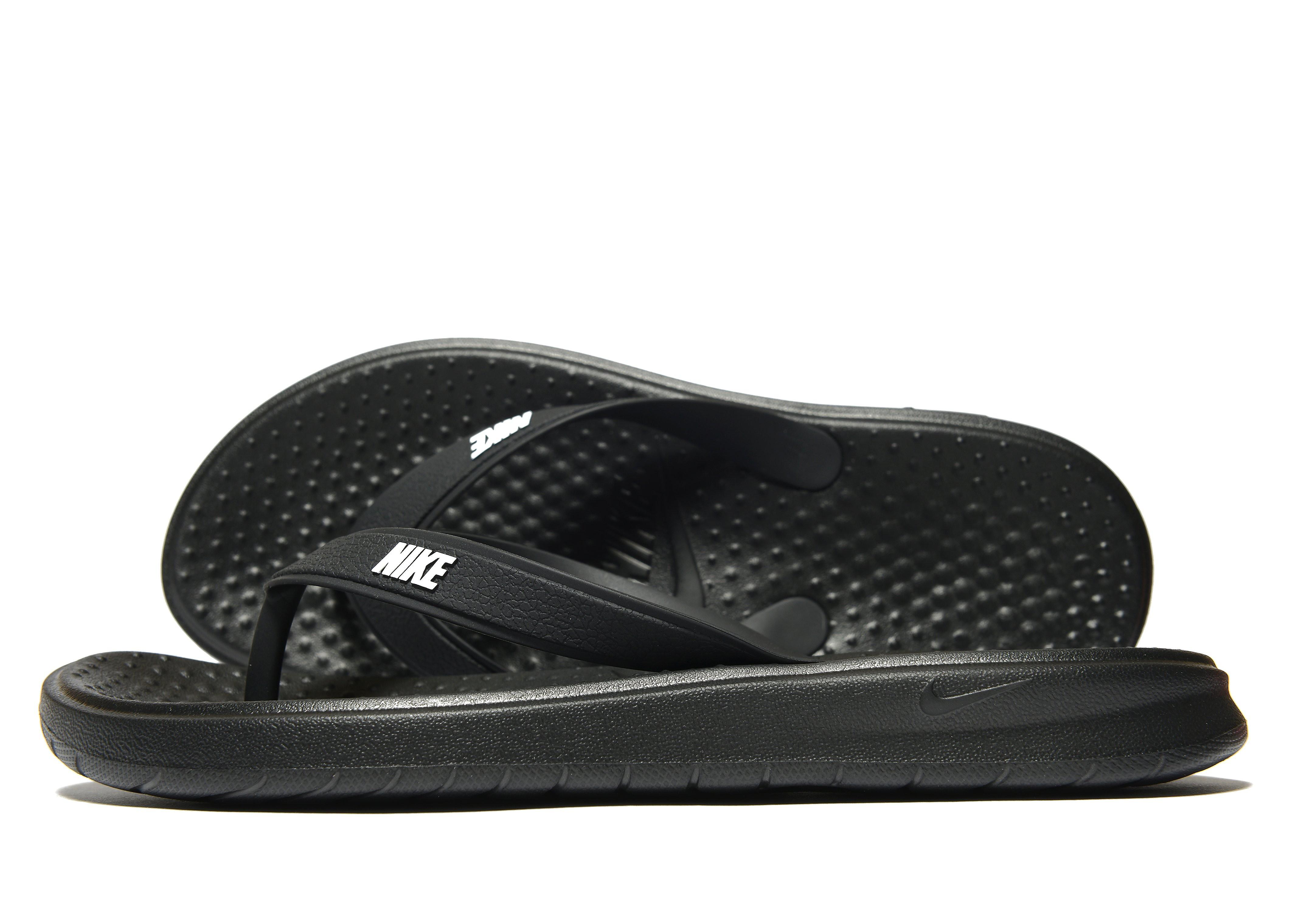Nike Solay-teenslippers - Zwart - Heren