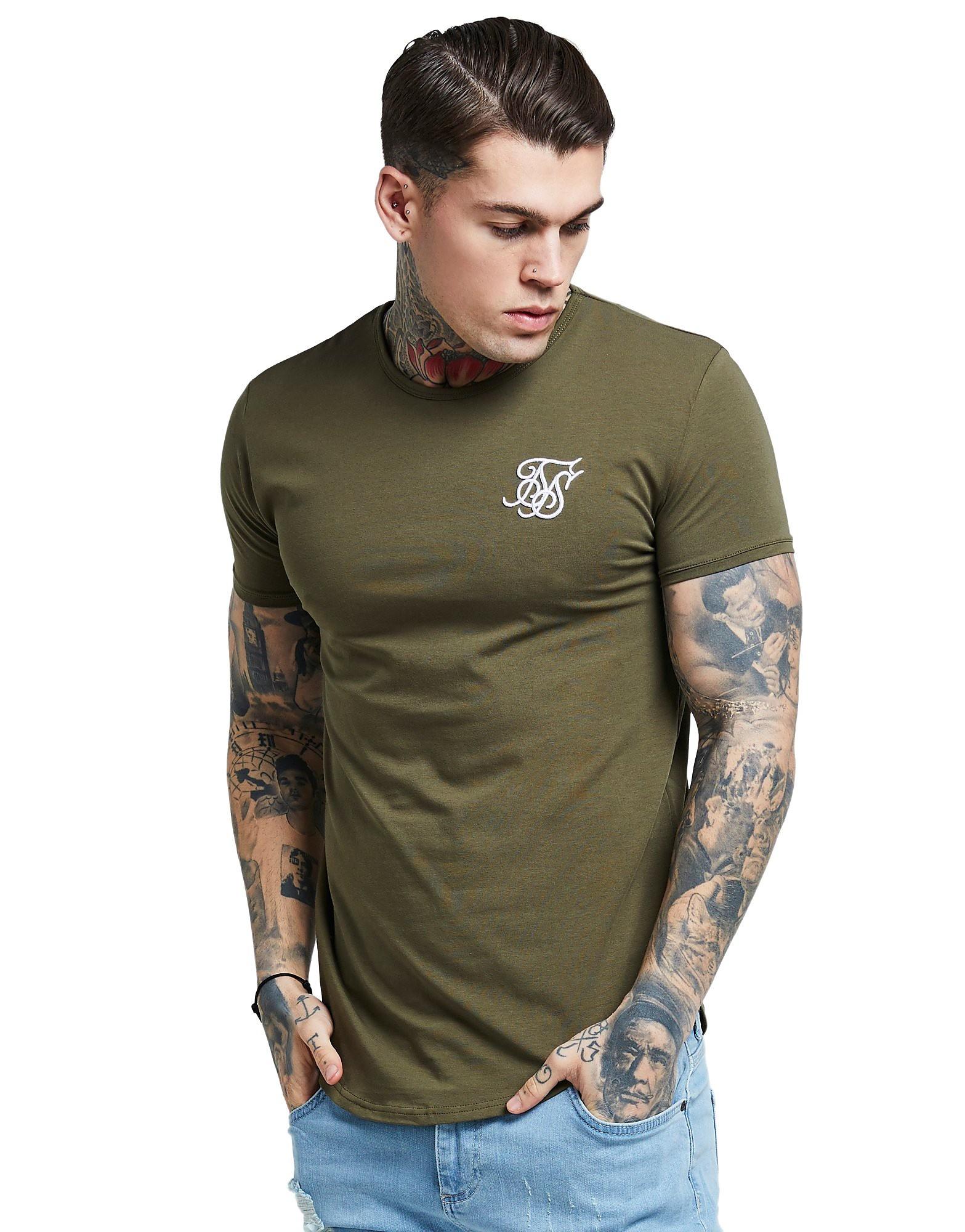 SikSilk Core Curve T-Shirt - Khaki - Heren