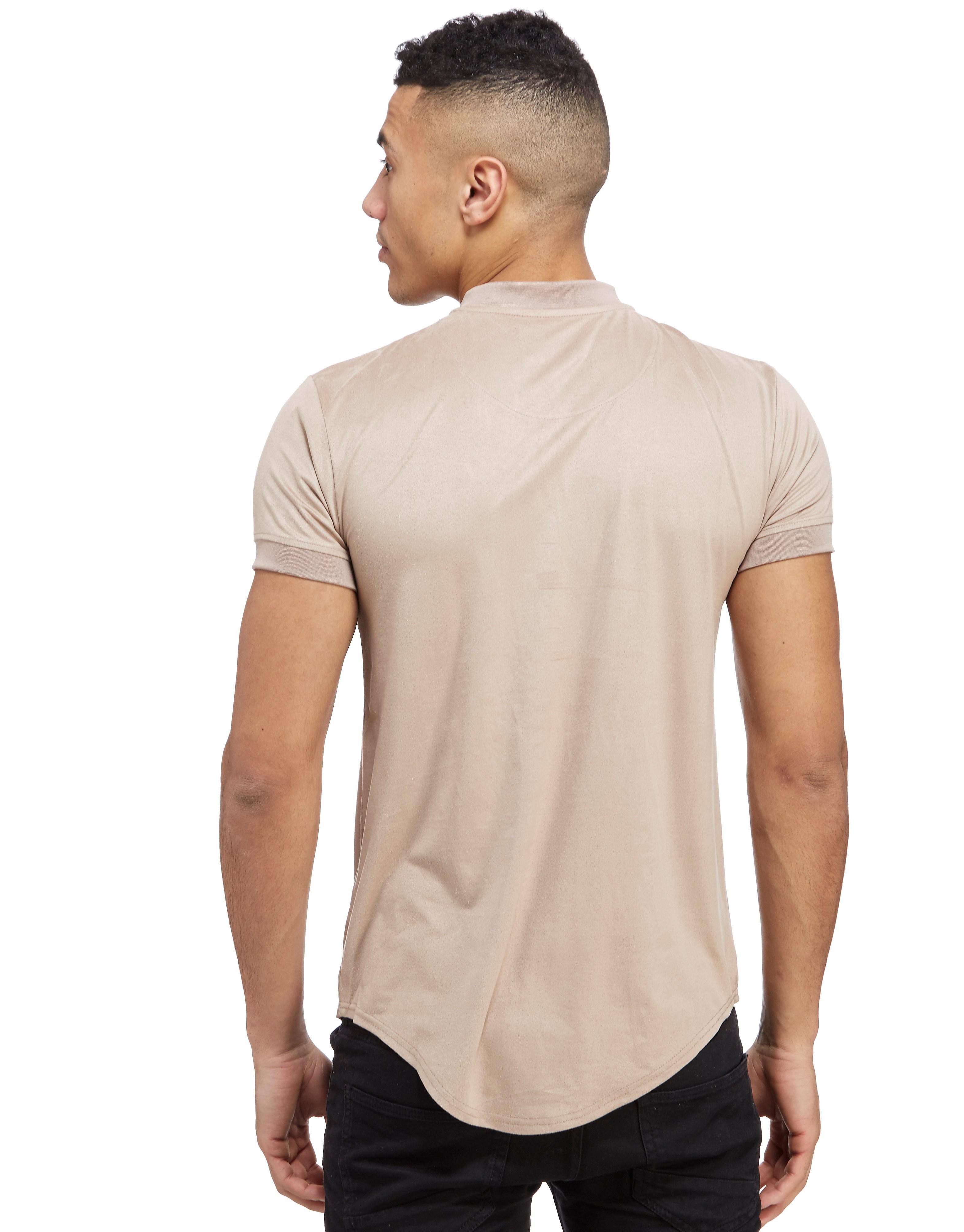 SikSilk Suede T-shirt met gebogen zoom