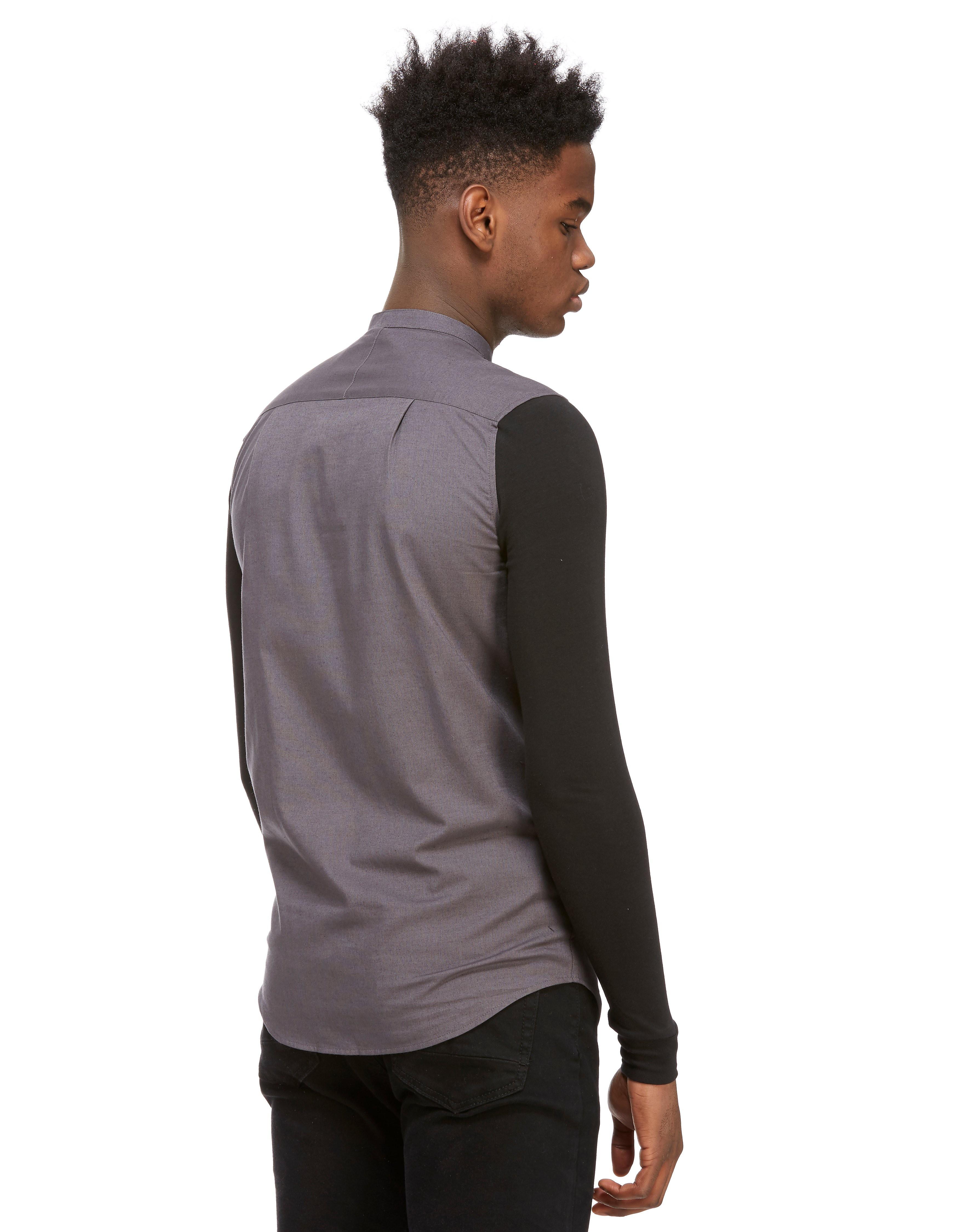 SikSilk Contrast Longsleeve Shirt